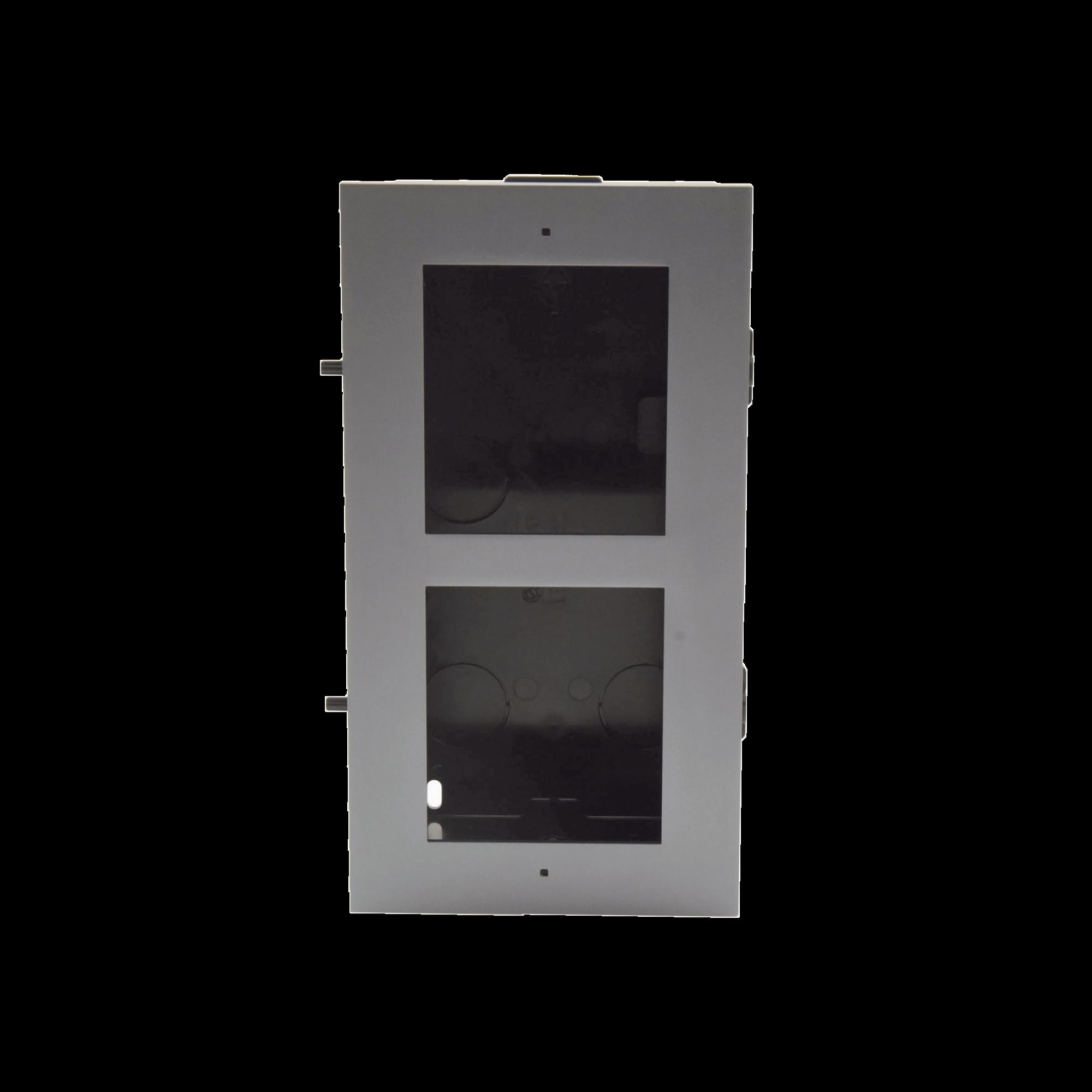 Base de 2 Espacios para EMPOTRAR Modulos de Videoporteros Hikvision
