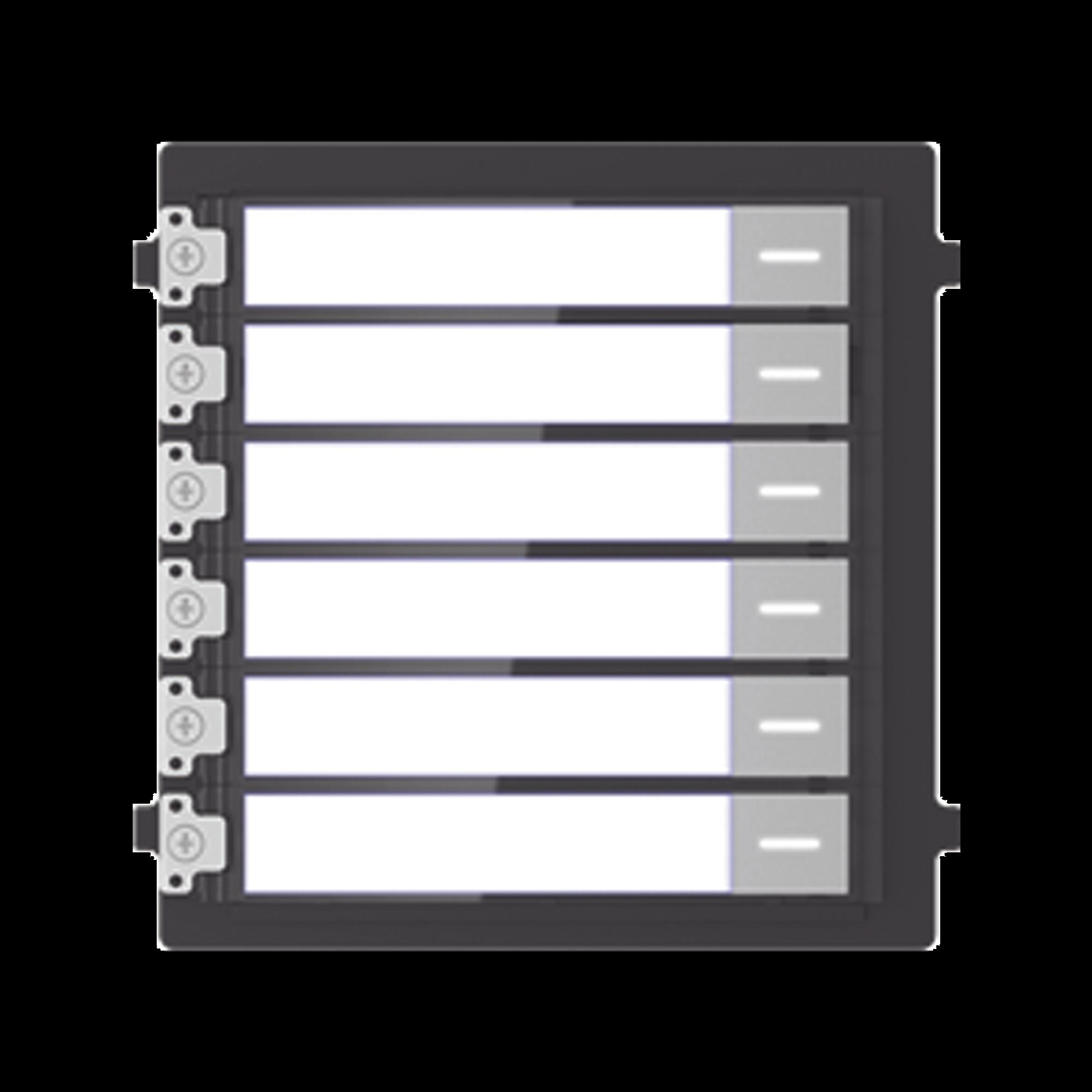 Modulo de Botones Para Videoportero Modular / Llamada de un solo Toque / Soporta Hasta 6 Monitores Principales