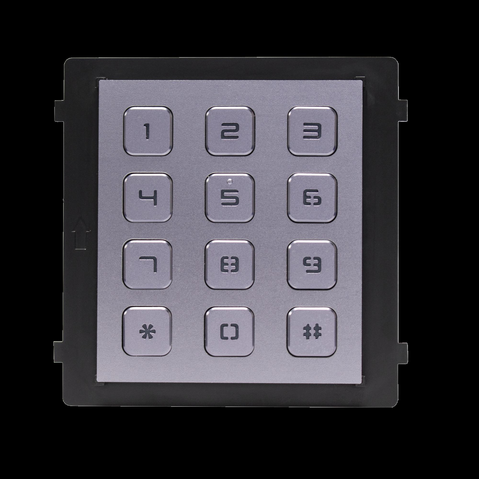 Módulo de Teclado para Frente de Calle  Modular / Desbloqueo de Puerta Mediante Código / Llamada a monitor.