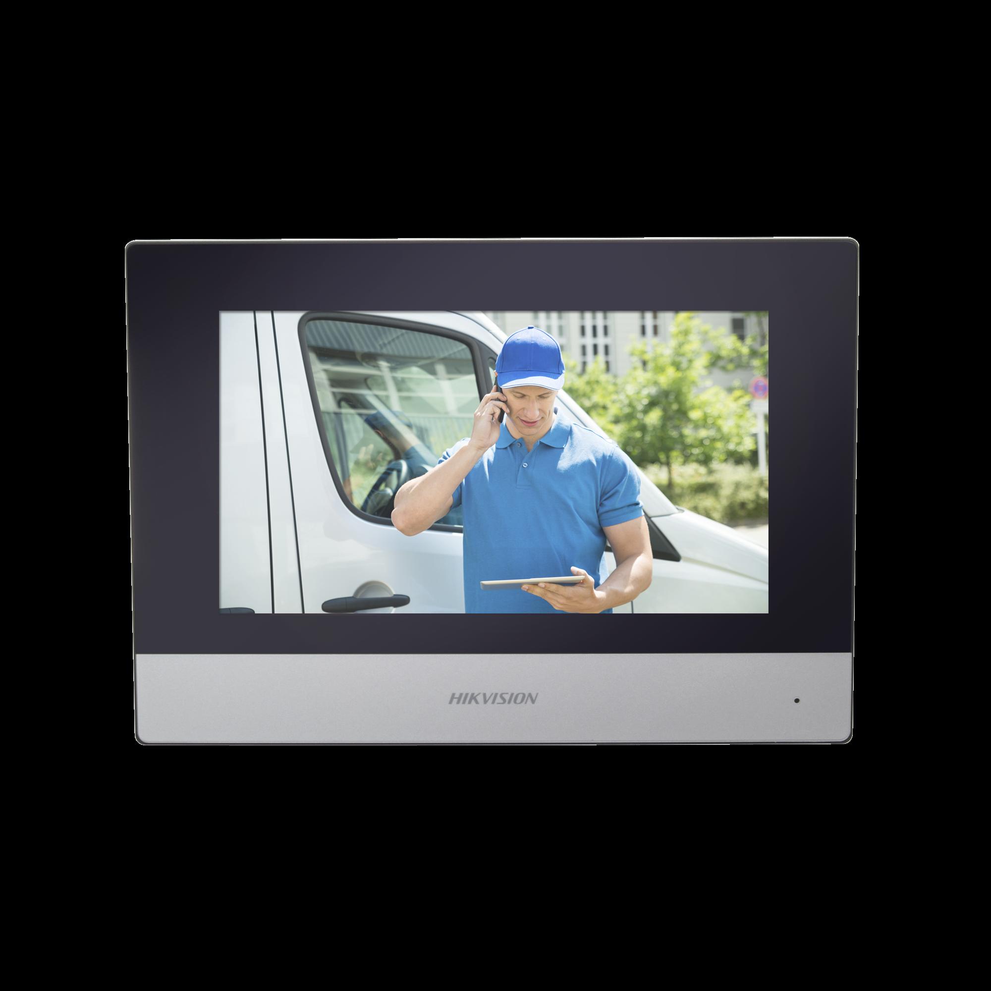 Monitor IP WiFi Touch Screen 7 para Videoportero IP  / Vídeo en Vivo / PoE Estándar / Apertura Remota / Llamada Entre Monitores / Audio de dos vías / Policarbonato