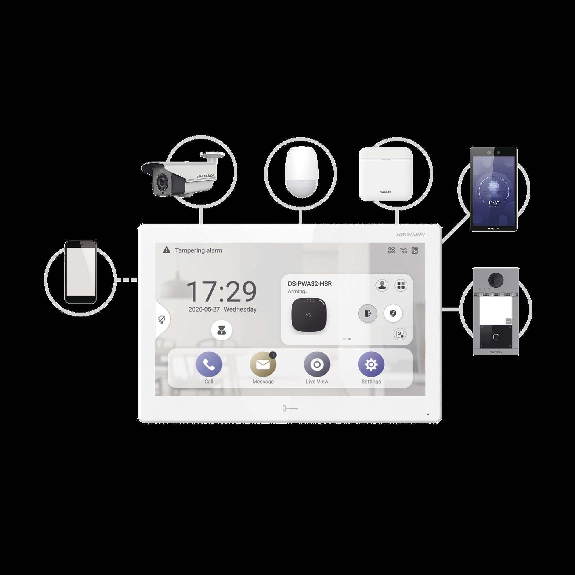 Monitor Touch IP / WiFi / ANDROID 7 / Integración con Videoporteros IP, CCTV, Panel de Alarma AXPRO y Biométricos de Acceso / CENTRO DE ADMINISTRACIóN / Vídeo en Vivo / PoE Estándar / Apertura Remota