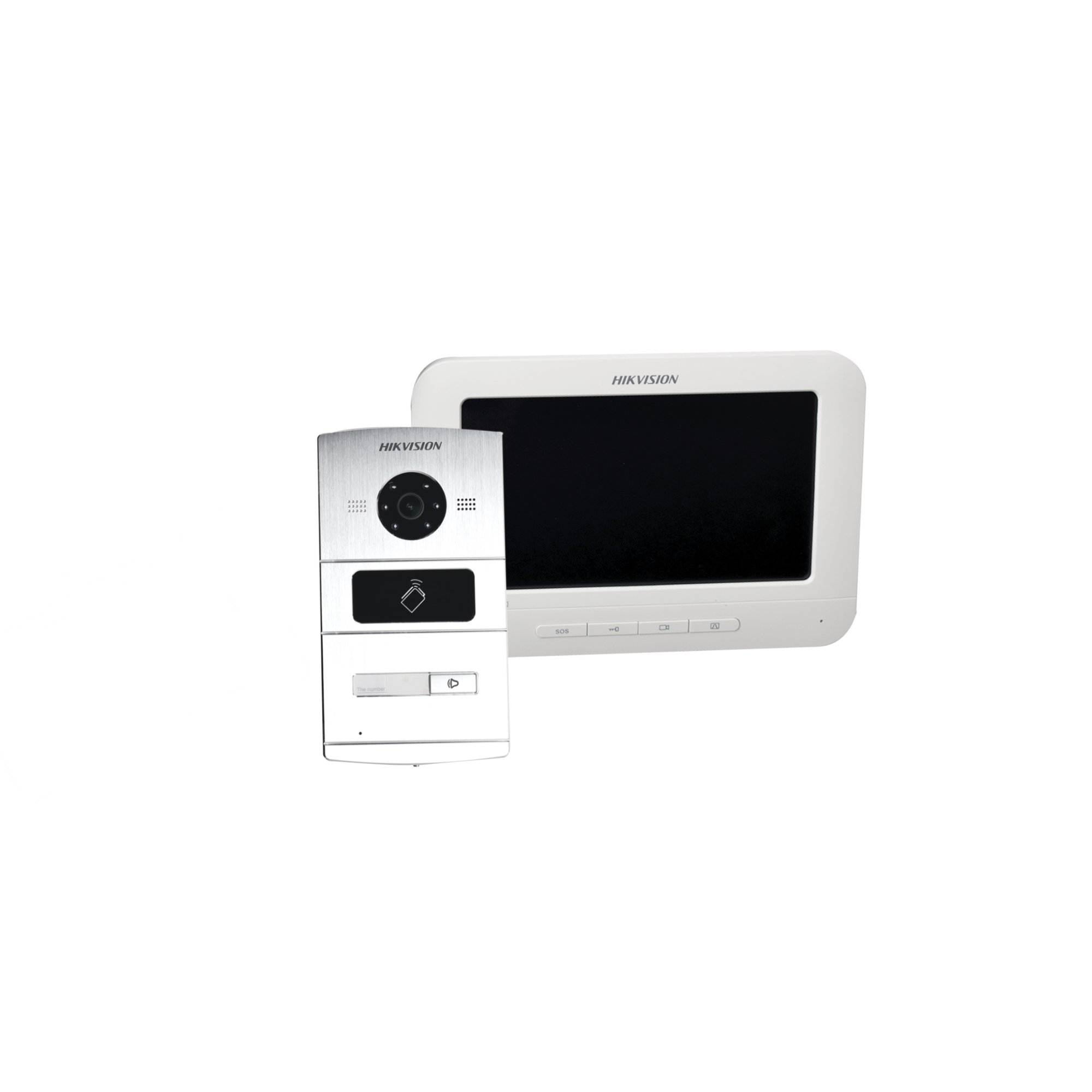 Kit de Videoportero IP / 1.3 Megapixel HD / Monitor Touch / Lector de Tarjetas para Función de Control de Acceso (tarjetas Mifare) / Compatible con Hik-connect para recepción de llamada con App móvil.