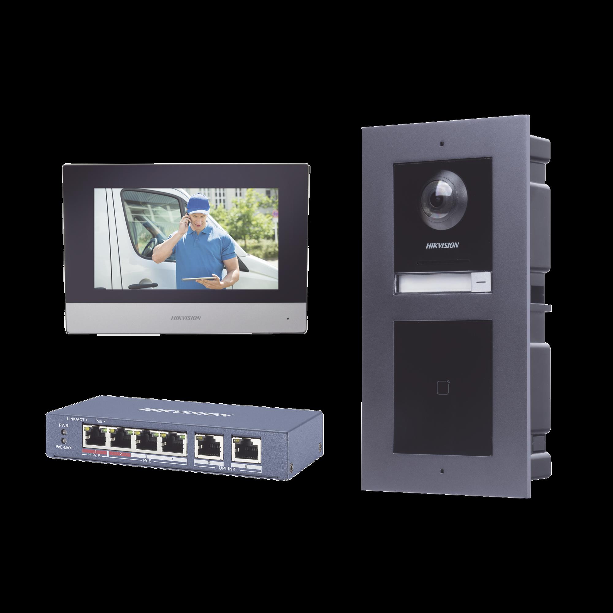 KIT de Videoportero IP con llamada a App de Smartphone y Lector de Tarjetas EM / 2da Generación (Modular) / Montaje para EMPOTRAR incluido