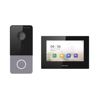 Kit de Videoportero IP LITE con llamada a App de Smartphone (Hik-Connect) / Frente de Calle IP65 / Soporta PoE Estándar