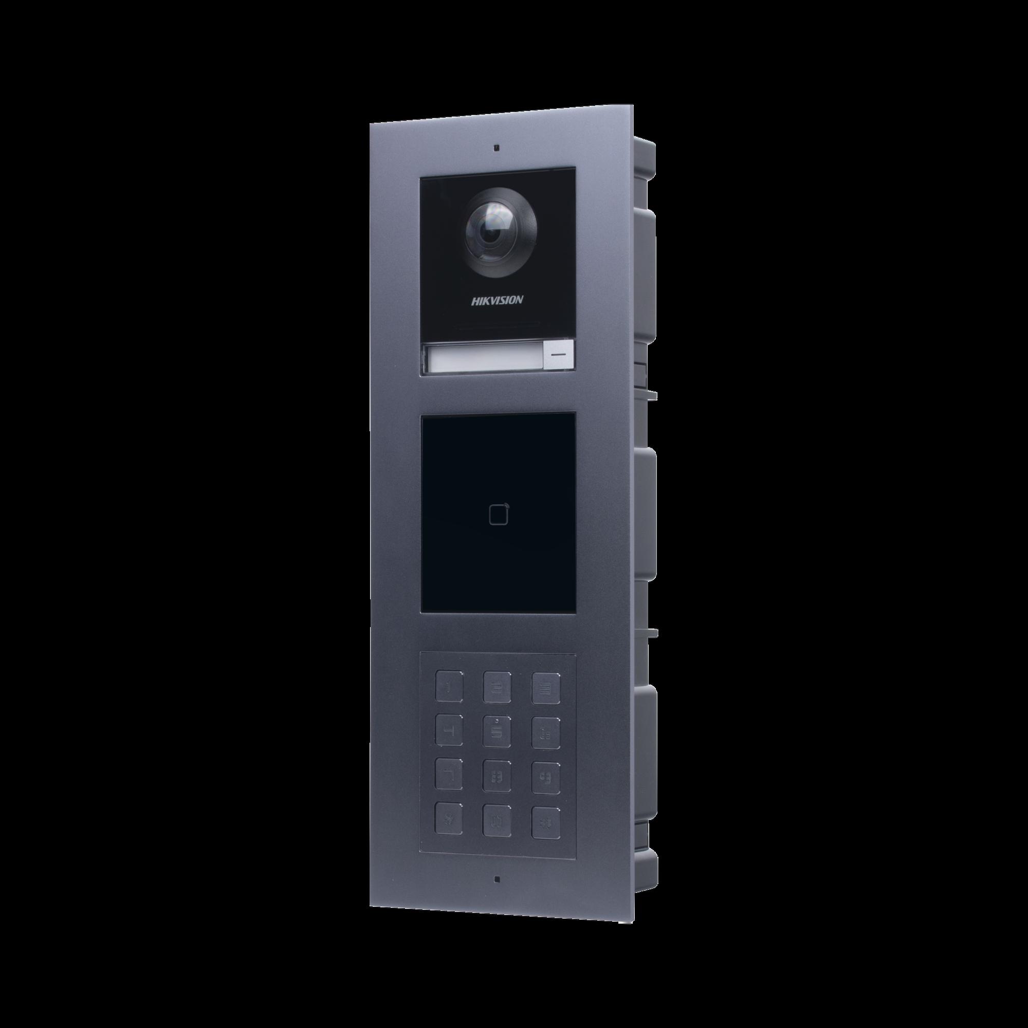Videoportero IP MULTIAPARTAMENTO con llamada a App de Smartphone y Lector de Tarjetas EM / 2da Generacion (Modular) / Montaje para EMPOTRAR incluido / Apertura con CONTRASE�AS y TARJETAS
