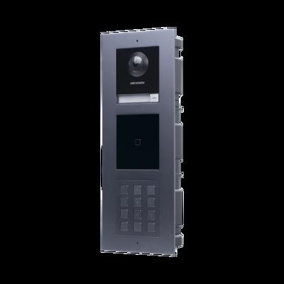 Videoportero IP MULTIAPARTAMENTO con llamada a App de Smartphone y Lector de Tarjetas EM / 2da Generación (Modular) / Montaje para EMPOTRAR incluido / Apertura con CONTRASEÑAS y TARJETAS