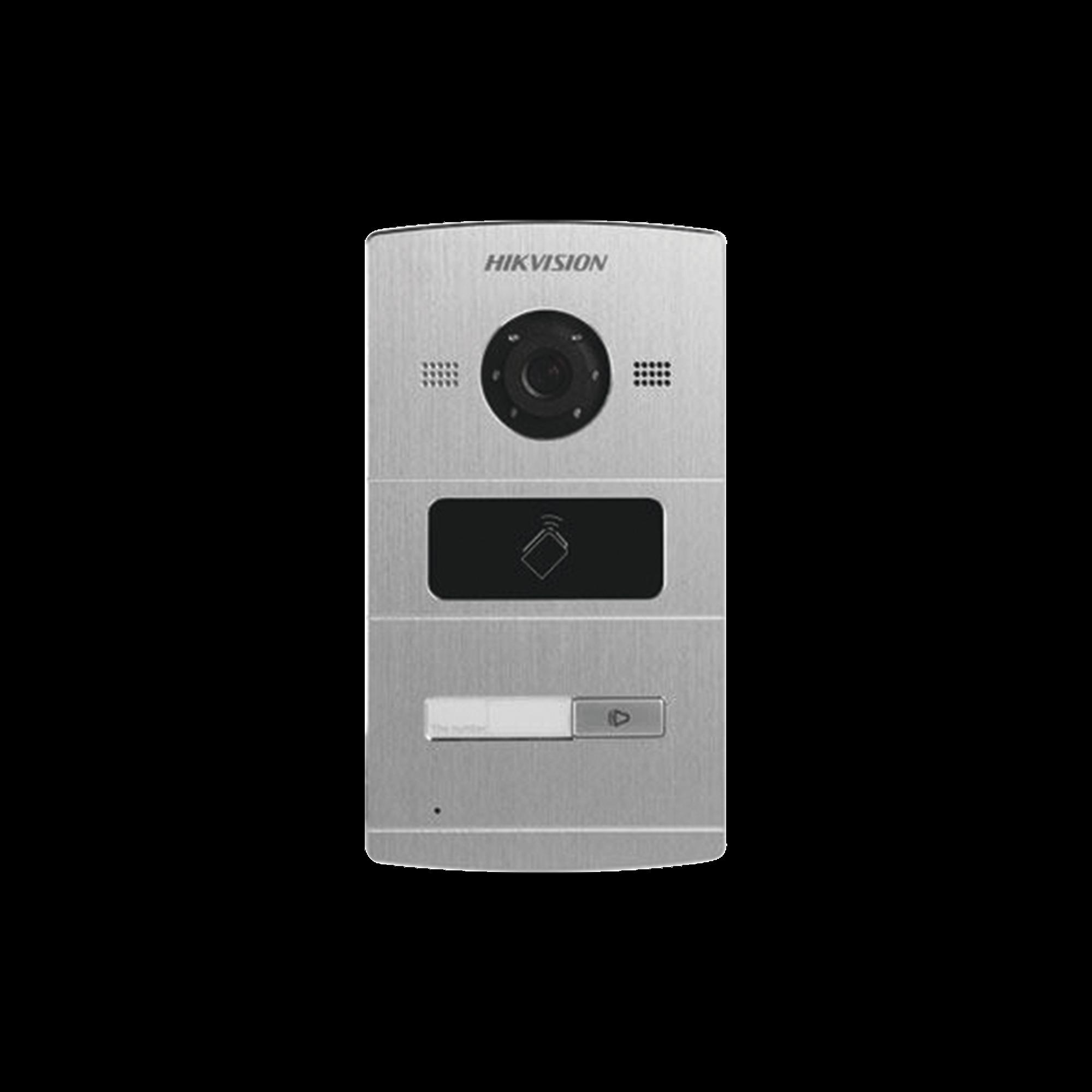 Frente de Calle IP 1.3 Megapixel / Lector de Tarjetas MIFARE para Función de Acceso / Compatible con Videoportero IP HIKVISION