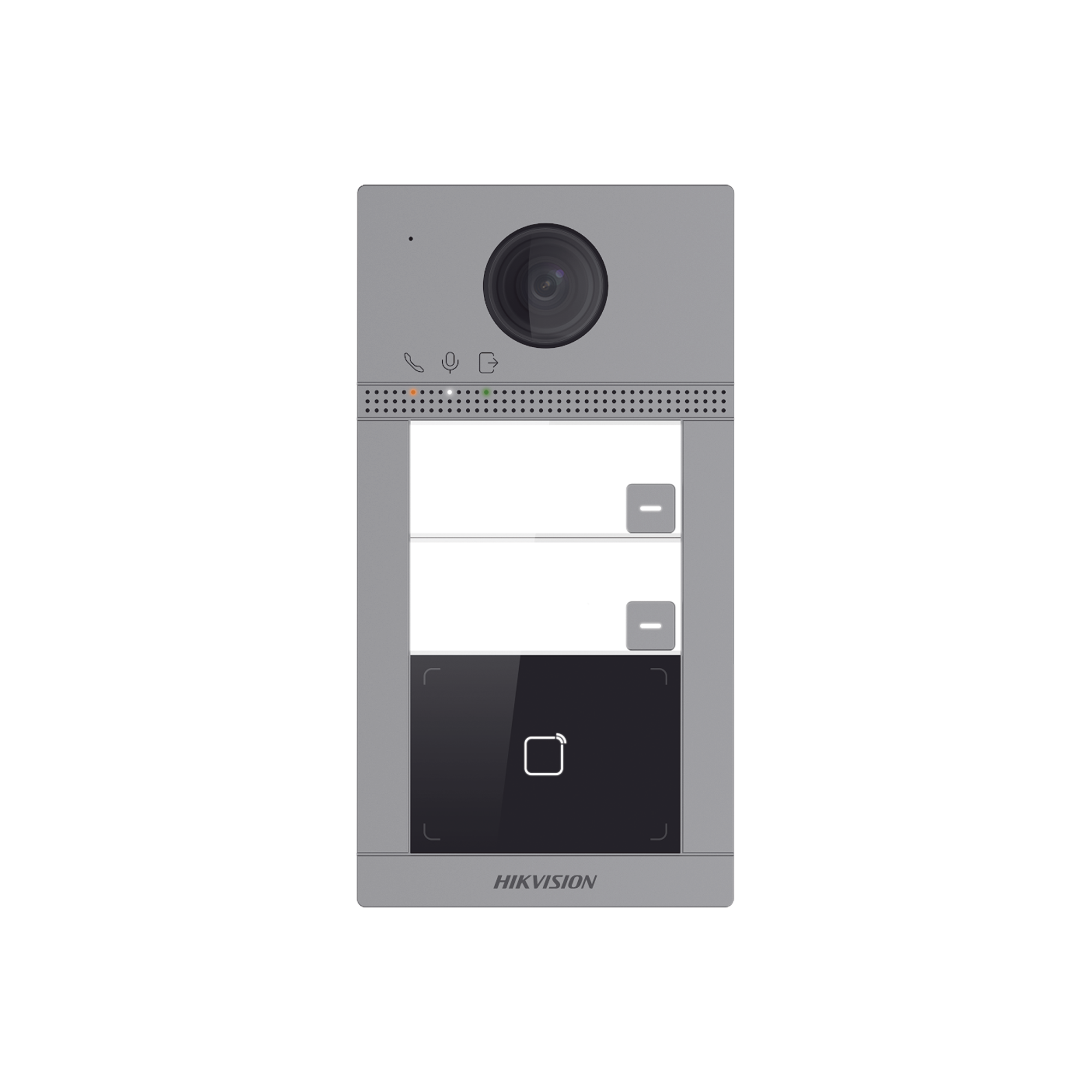 Videoportero IP WIFI  (IP65 + IK08) con Llamada y apertura desde APP Hik-Connect / Soporta 2 Departamentos / PoE Estandar  / Interfaz WEB para configuración / 2 puertas
