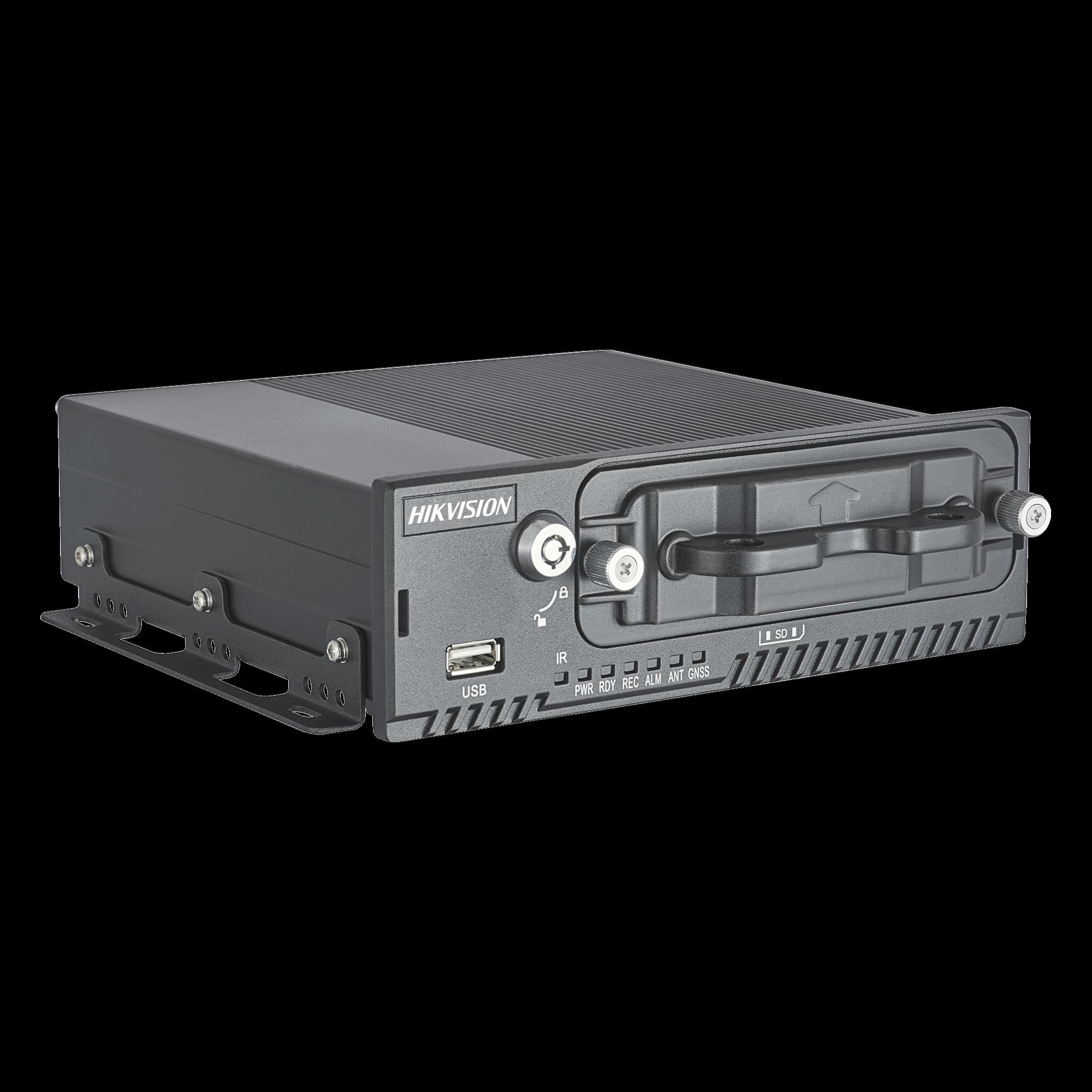 DVR Movil 4 Canales 720P / Soporta 3G, GPS y WiFi / 1 TB de Disco Incluido / Monitoreo Remoto / Soporta Memoria SD