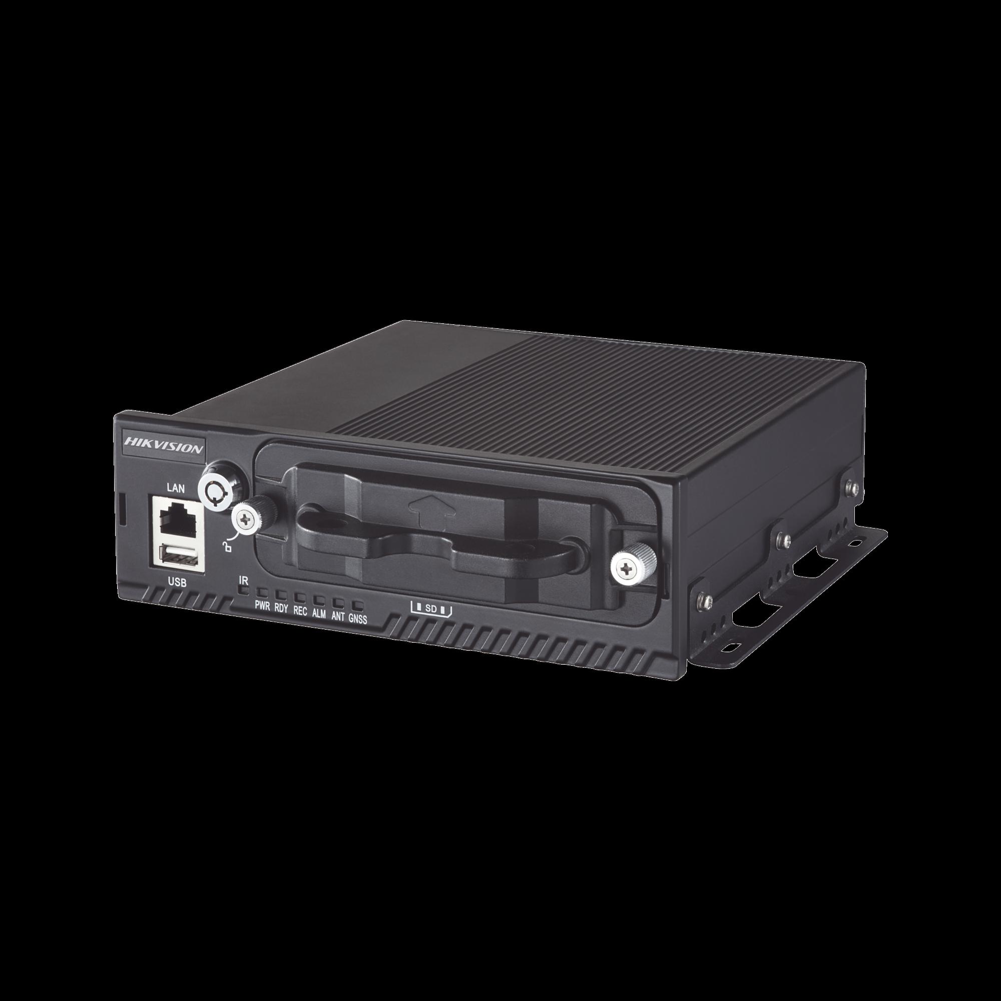 NVR movil 4 canales de 2MP con 4 puertos PoE / 3G-4G / GPS / WI-FI / 2 Bahías de disco duro de 2TB