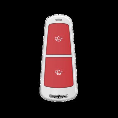 (AX HUB) Botón de Pánico Inalámbrico Doble / Protección Contra Activación Accidental