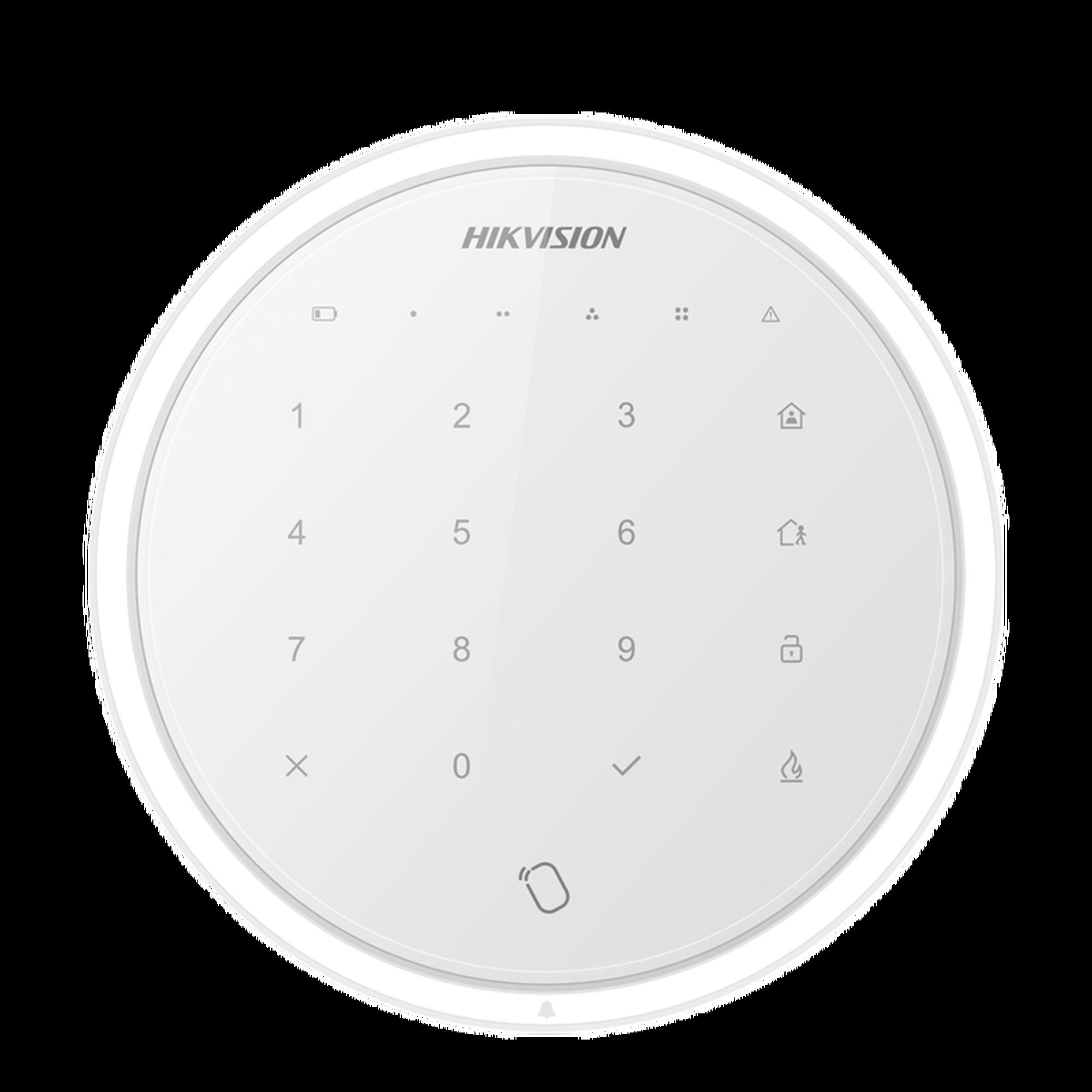 (AX HUB) Teclado Inalámbrico compatible con paneles de alarma inalámbricos de  HIKVISION