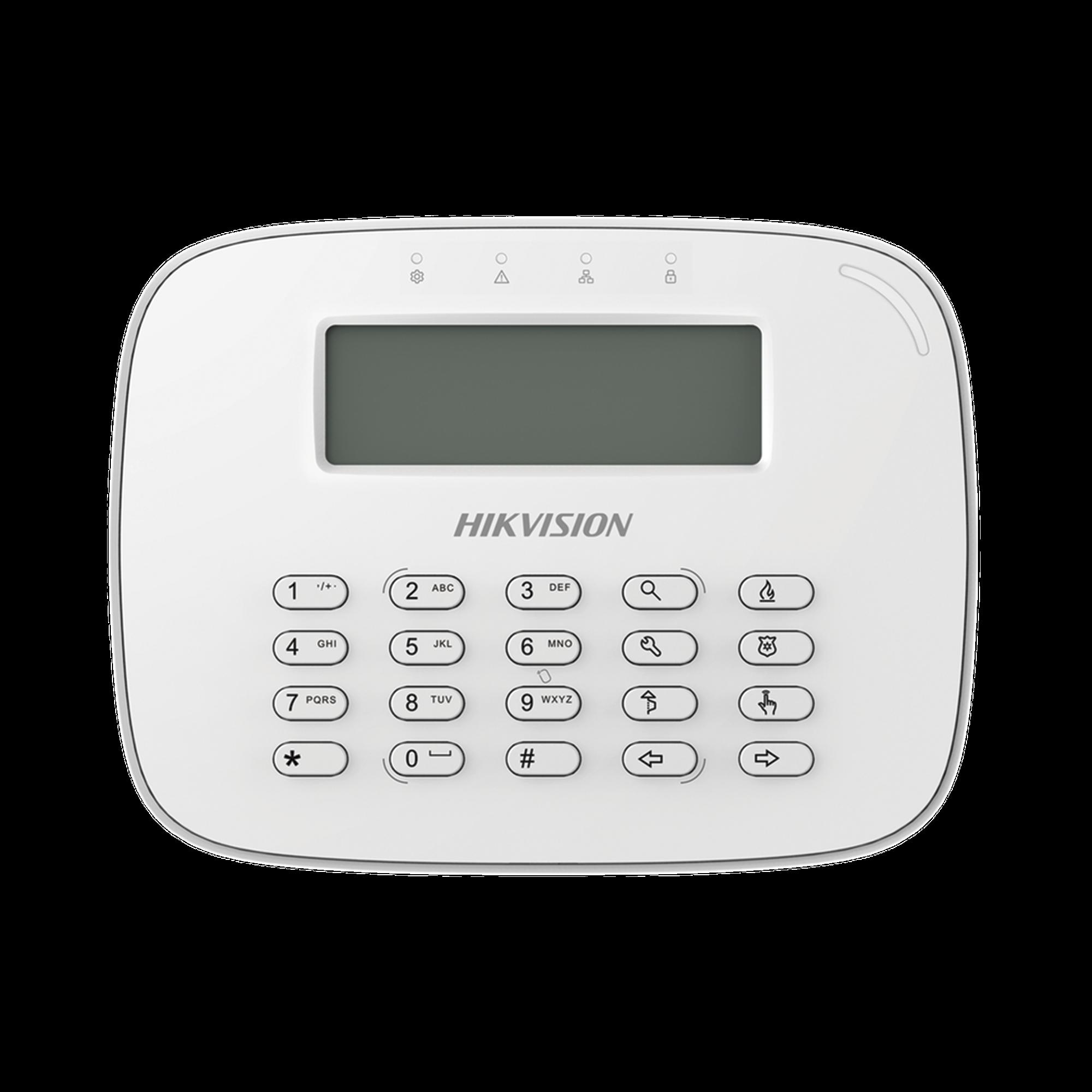 Teclado LCD alámbrico compatible con el panel DS-PHA64-W4P de Hikvision
