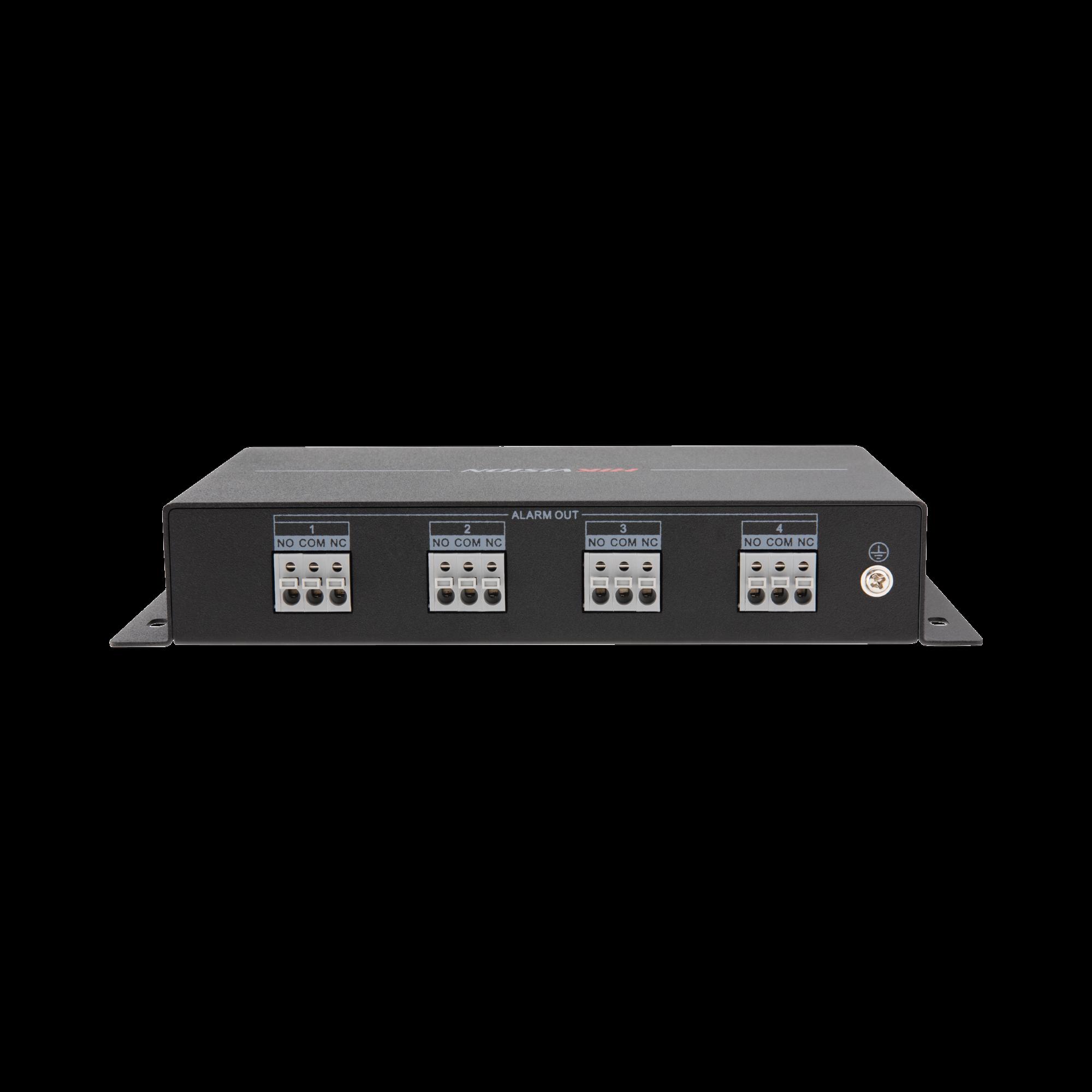 Modulo de 4 relevadores para funciones de automatización comunicación RS485.