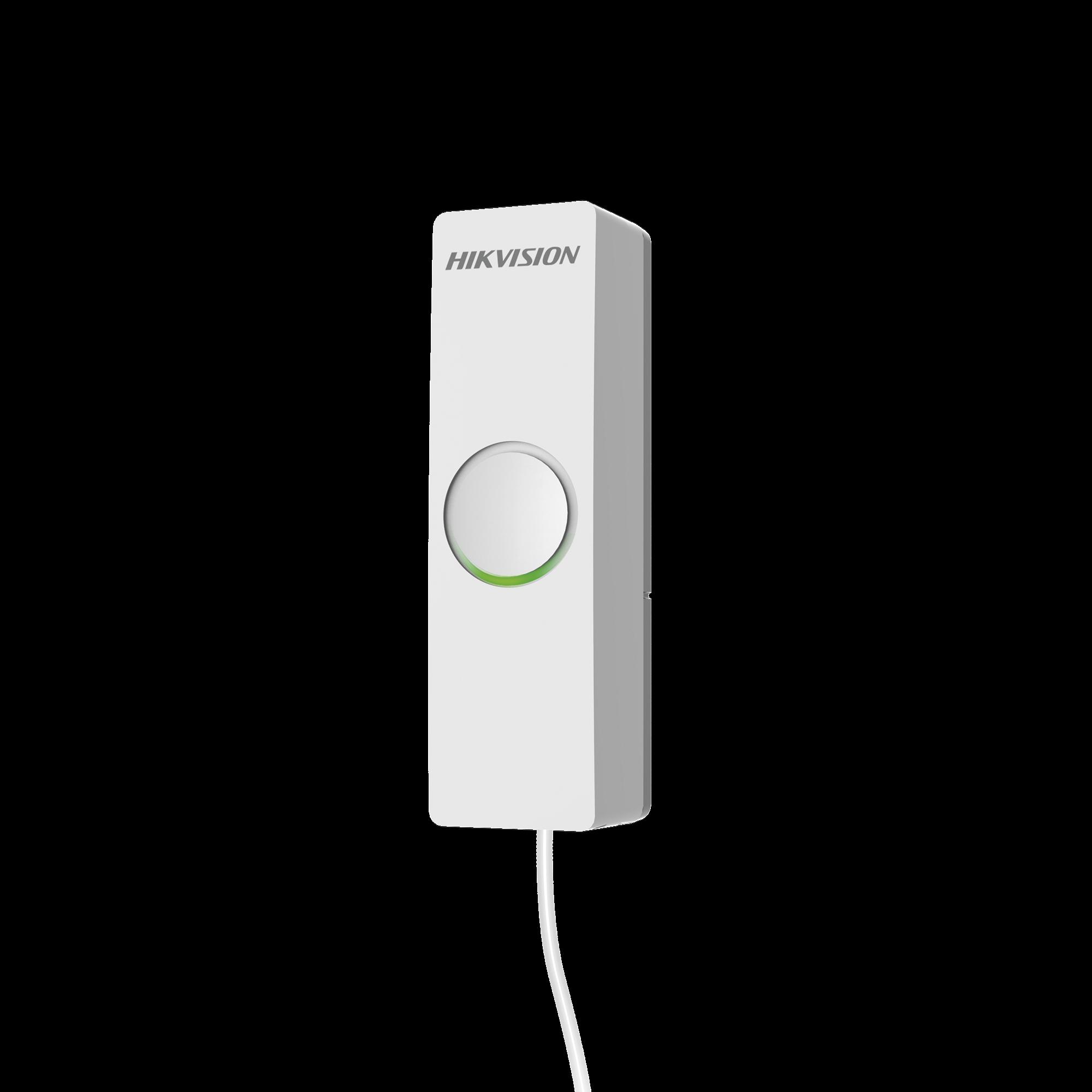(AX HUB) Transmisor  inalámbrico con 1 entrada de alarma, ideal para convertir una zona cableada a inalámbrica, compatible con alarmas HIKVISION