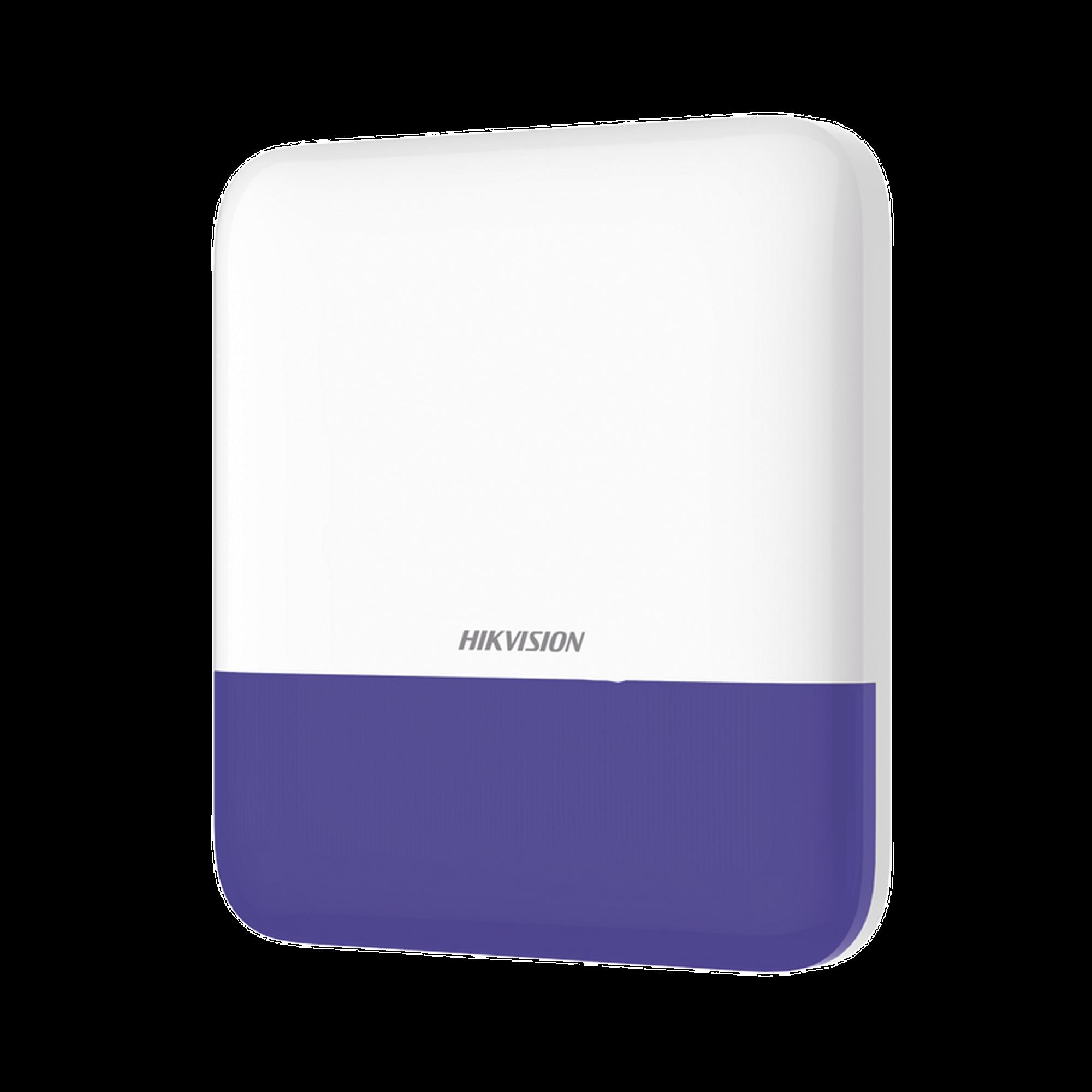 (AX PRO) Sirena Inalámbrica con Estrobo Azul para Exterior IP65 / 110 dB