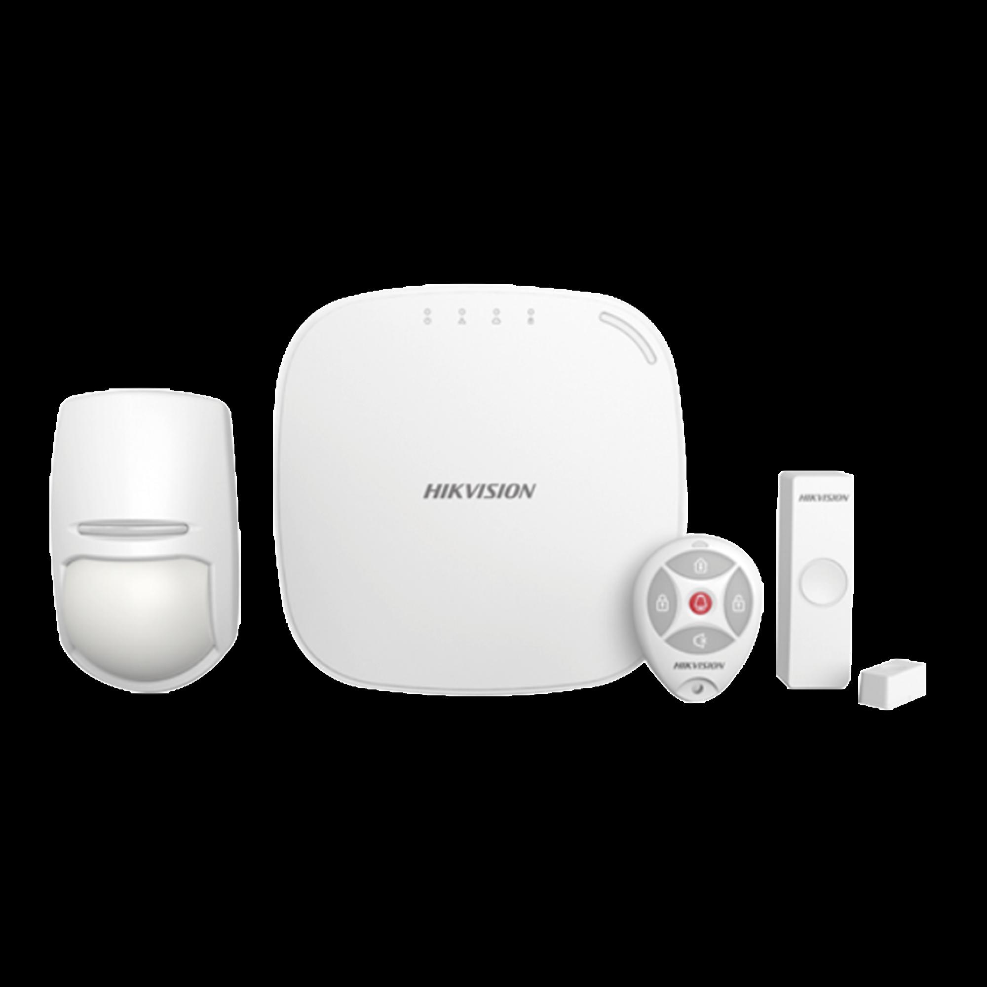 (AX HUB) KIT para Panel de Alarma / Incluye: 1 Hub / 1 Sensor PIR / 1 Contacto Magnético / 1 Control Remoto/ WiFi / Compatible con Hik-Connect P2P