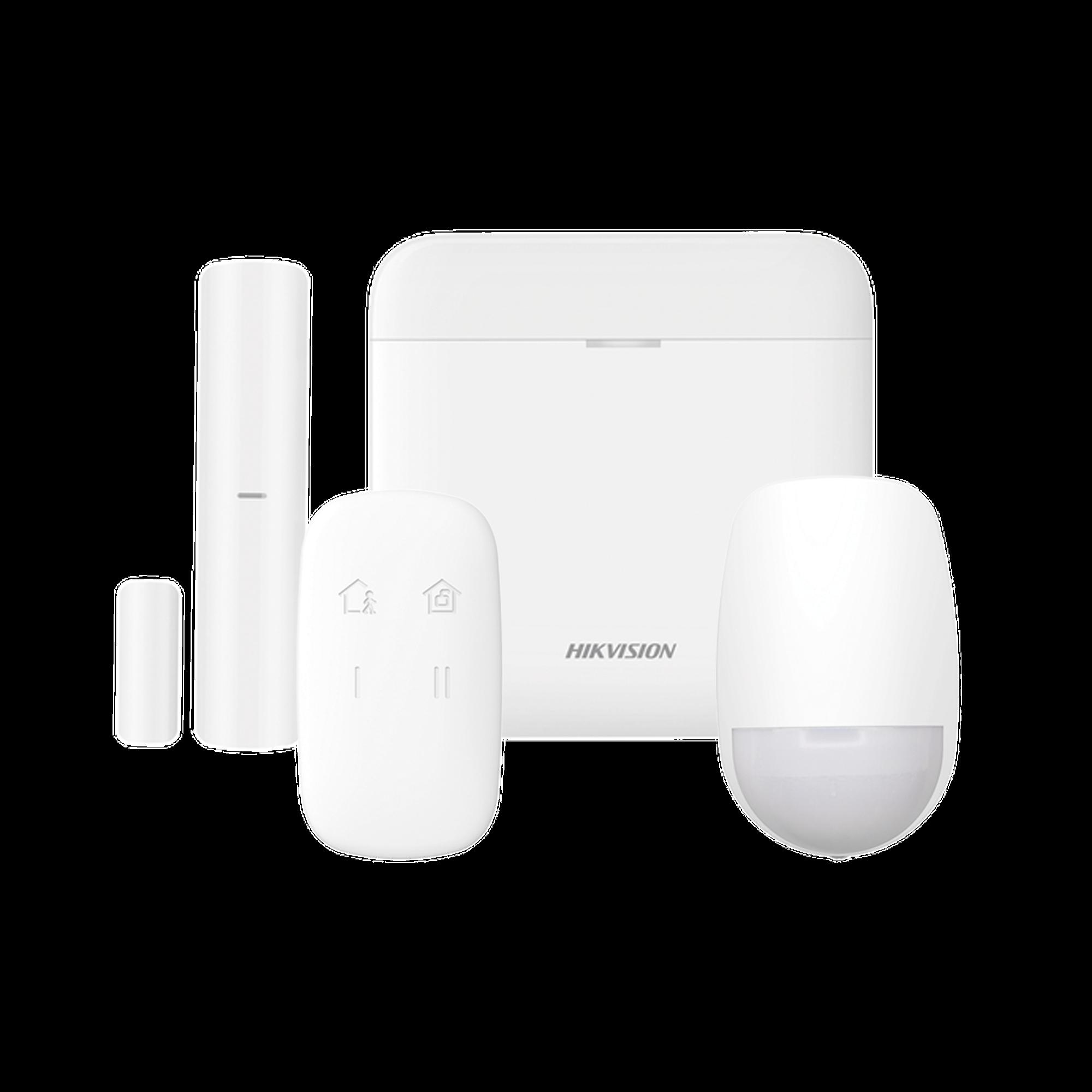 (AX PRO) KIT de Alarma AX PRO / Incluye: 1 Hub / 1 Sensor PIR / 1 Contacto Magnético / 1 Control Remoto / WiFi / Compatible con Hik-Connect P2P