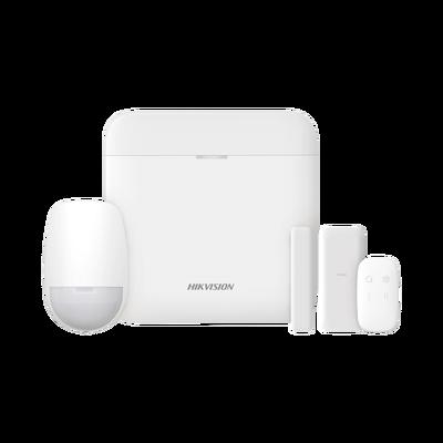 (AX PRO) KIT de Alarma AX PRO con GSM (3G/4G) / Incluye: 1 Hub / 1 Sensor PIR / 1 Contacto Magnético Slim / 1 Control Remoto / Wi-Fi / Compatible con Hik-Connect P2P