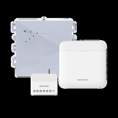 (AX PRO + YONUSA) KIT de Alarma AX PRO / Incluye: 1 Hub / 1 Energizador 2500Mts Lineales / 1 Relevador  0 a 36 VCD (Max. 5 A) con Entrada de Alarma 27/7