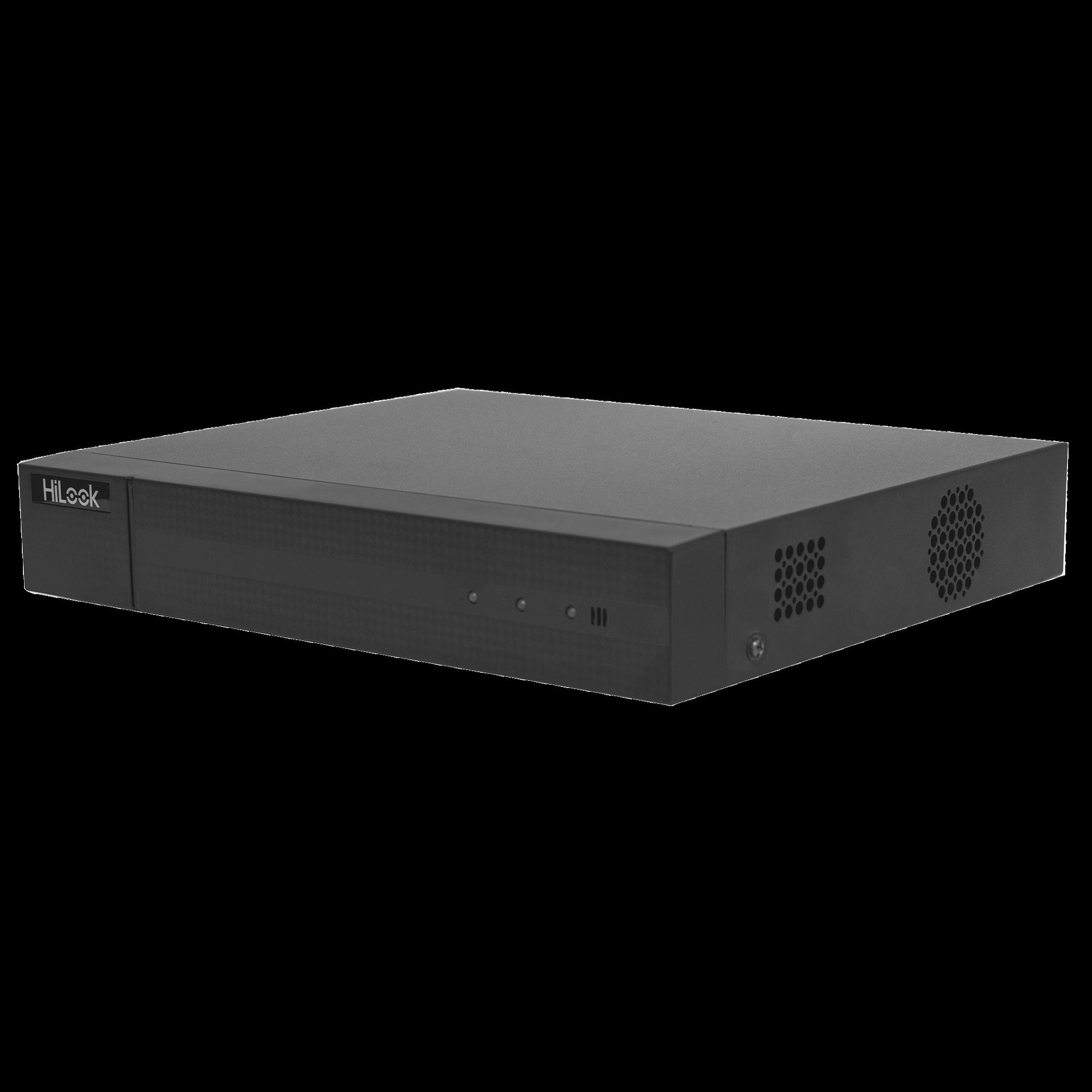 DVR 1080P Lite Pentahibrido / 4 Canales TURBOHD + 1 Canales IP / 1 Bahía de Disco Duro / H.264+ / 1 Canal de Audio / Salida de Vídeo Full HD