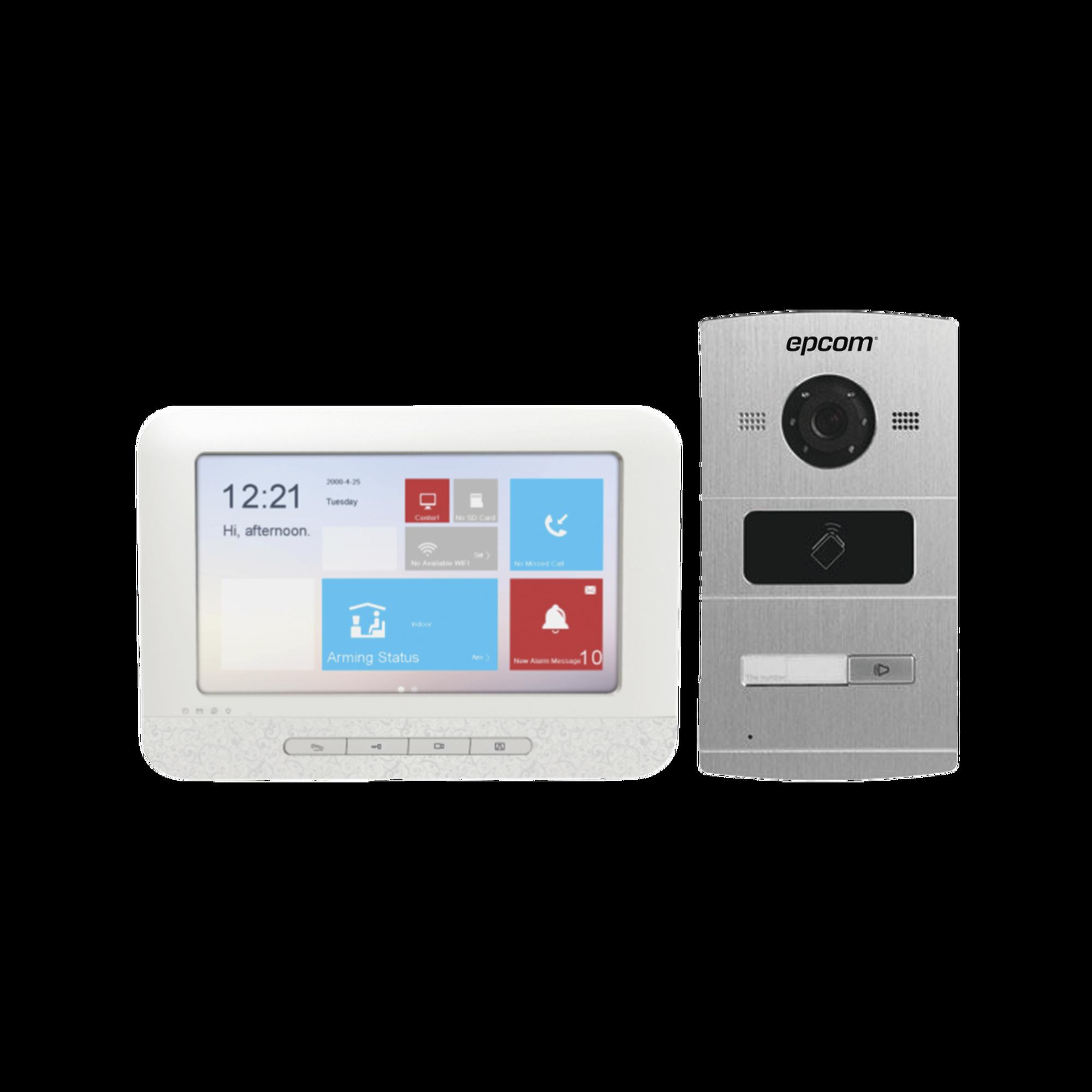 KIT Video Portero IP / pantalla Touch screen 7 / P2P / Apertura de puerta desde monitor y App.