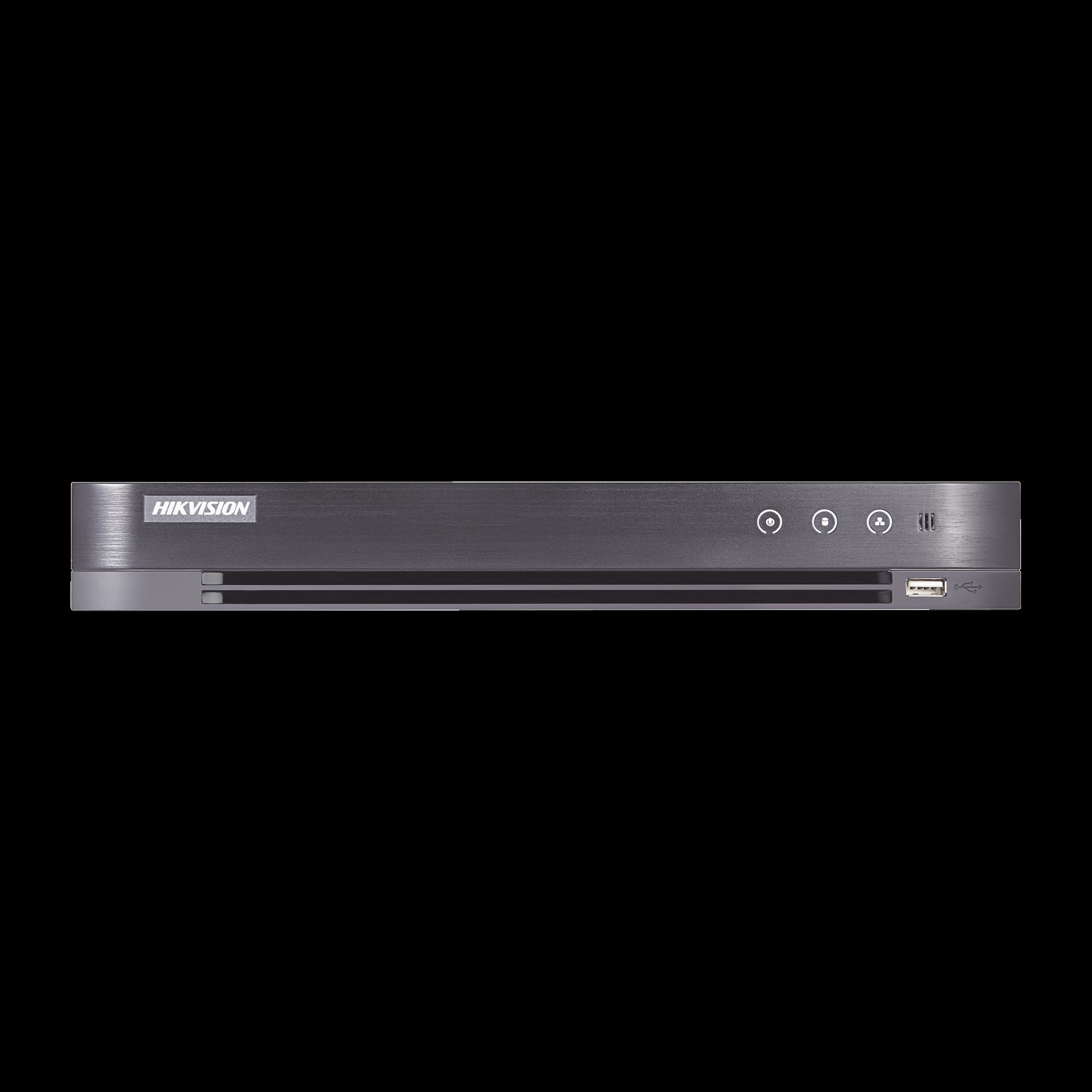 DVR 3 Megapixel / 4 Canales TURBOHD + 2 Canales IP / 1 Bahía de Disco Duro / 1 Canal de Audio / Vídeo análisis