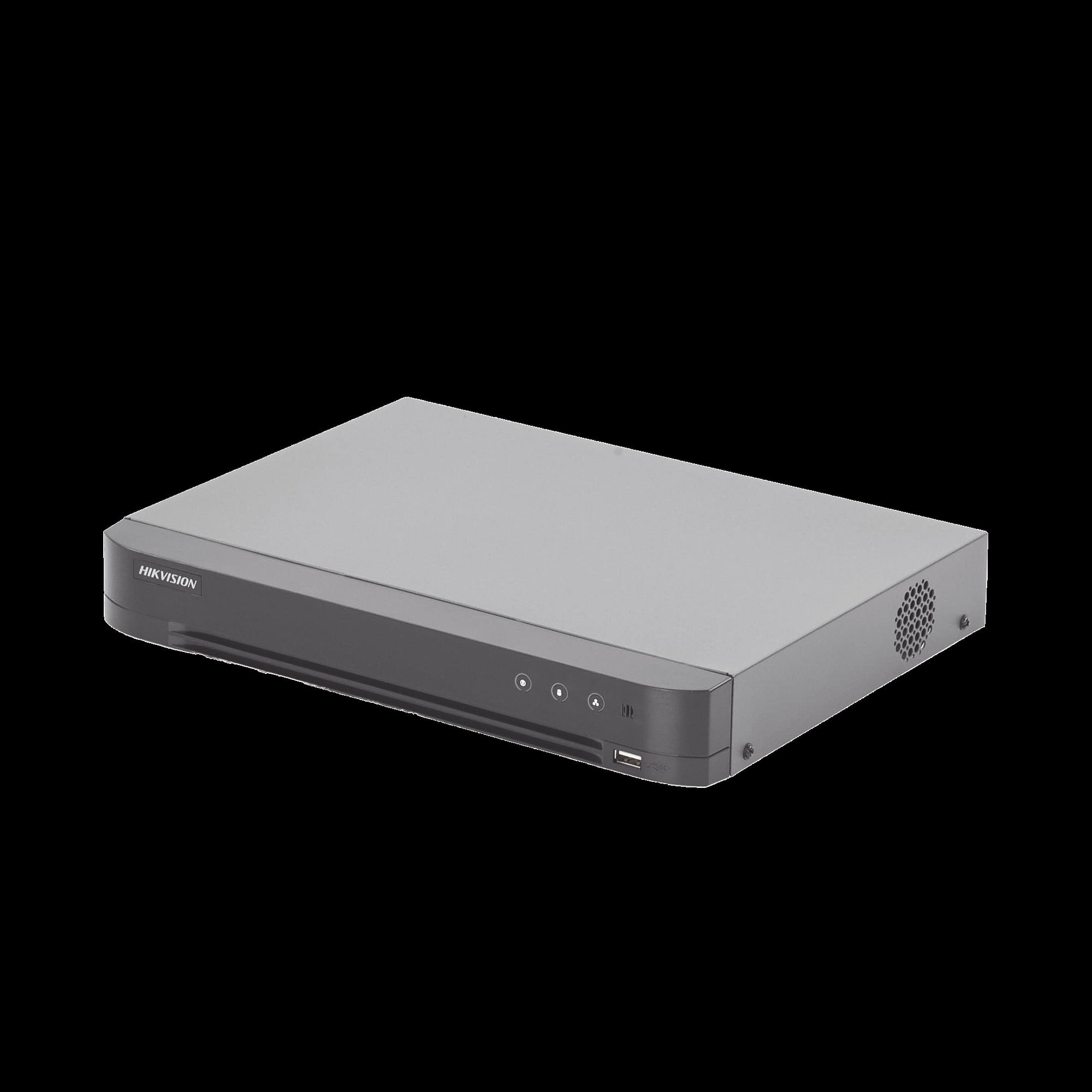 DVR 4 Megapixel / 8 Canales TURBOHD + 4 Canales IP / Detección de Rostros / 1 Bahía de Disco Duro / 8 Canales de Audio