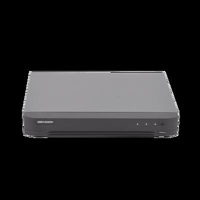(RECONOCIMIENTO DE ROSTROS) DVR 4 Megapixel / 8 Canales TURBOHD + 4 Canales IP / 1 Bahía de Disco Duro / 1 Canal de Audio / Audio por Coaxitron