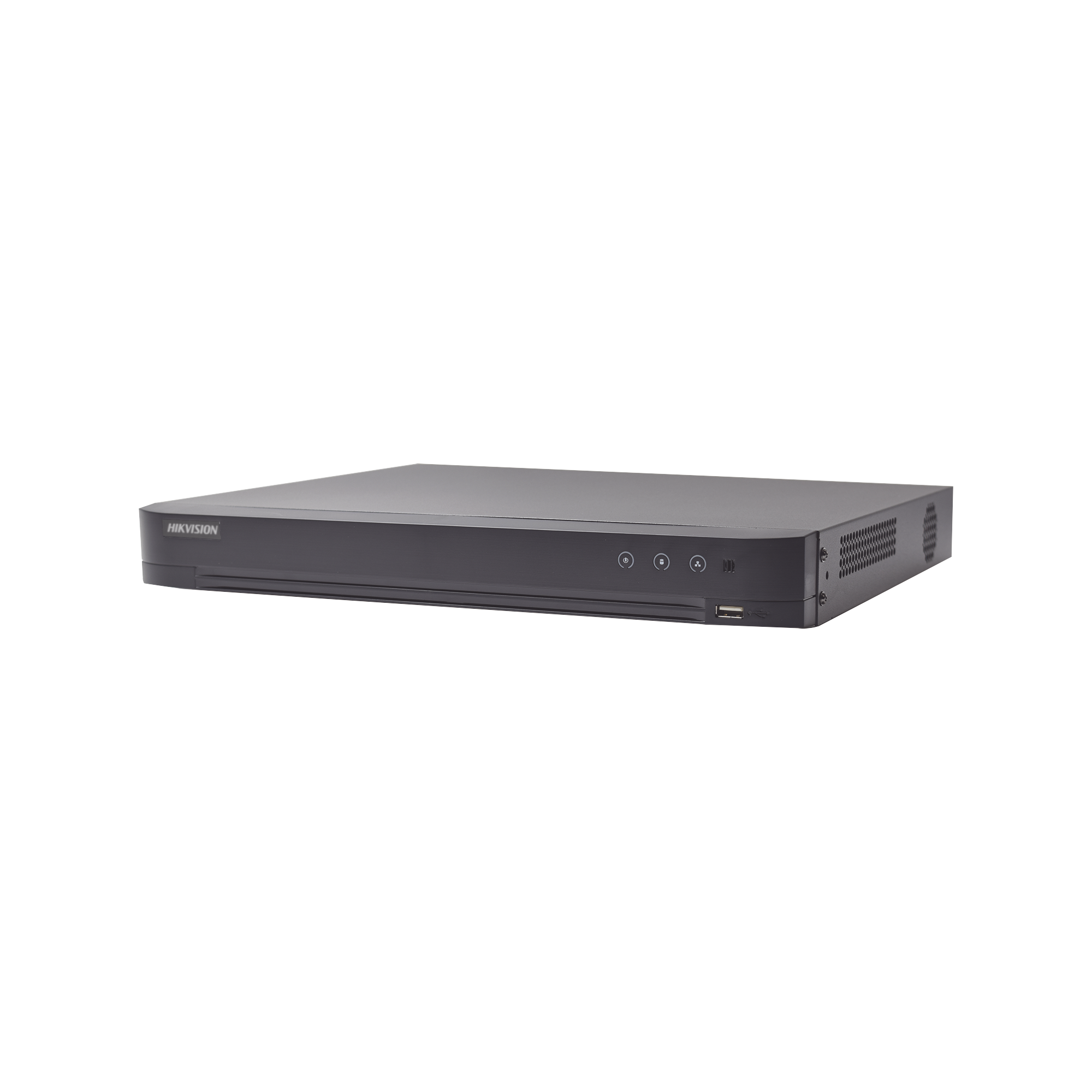 (ACUSENSE / Evita Falsas Alarmas) DVR 4 Megapixel / 8 Canales TURBOHD + 4 Canales IP / Detección de Rostros / 1 Bahía de Disco Duro / Audio por Coaxitron