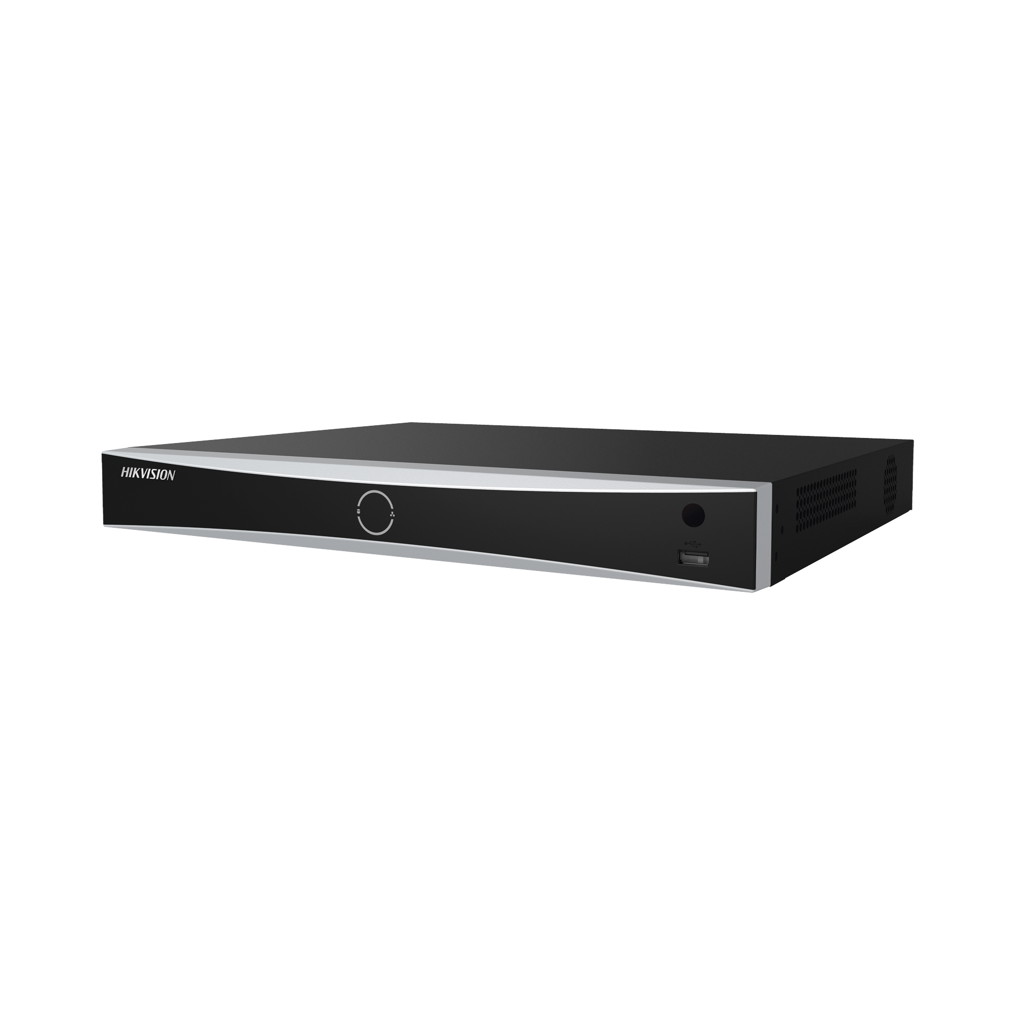 NVR 12 Megapixel (4K) / Reconocimiento Facial / 8 Canales IP / Base de Datos / Hasta 100,000 Fotografías / 8 Puertos PoE+ / 2 Bahías de Disco Duro / Switch PoE 300 mts / Bases de Datos / HDMI en 4K