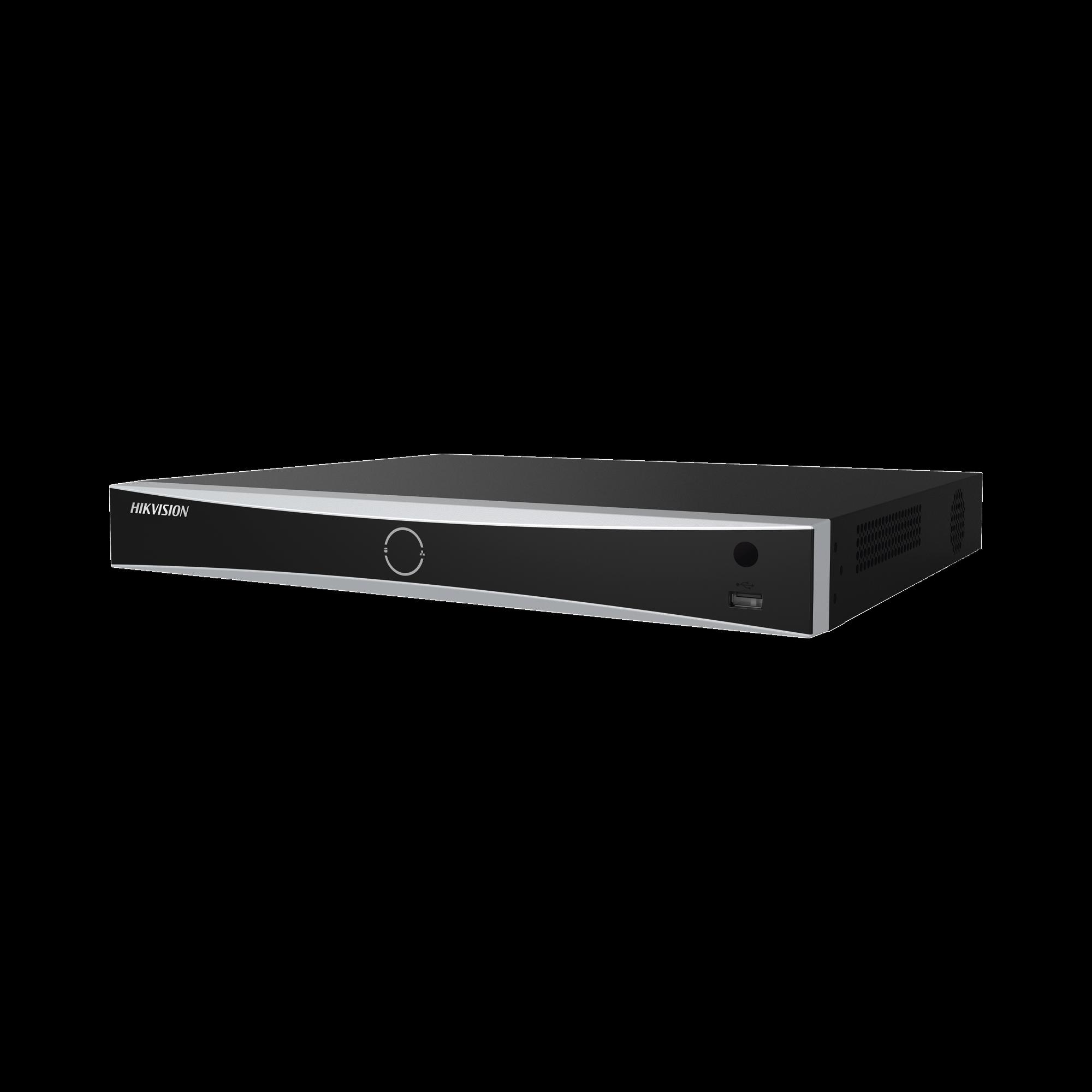 NVR 12 Megapixel (4K) / Reconocimiento Facial / 16 Canales IP / Base de Datos / Hasta 100,000 Fotografías / 16 Puertos PoE+ / 2 Bahías de Disco Duro / Switch PoE 300 mts / Bases de Datos / HDMI en 4K
