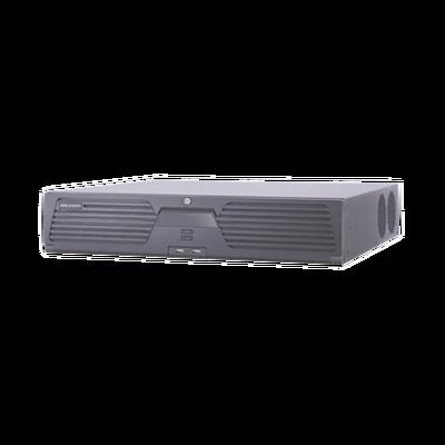 NVR 12 Megapixel (4K) / 32 Canales IP / 8 Bahías de Disco Duro / 2 Tarjetas de Red / Soporta RAID / Reconocimiento Facial / Bases de Datos / Filtro de Falsas Alarmas / Detección de Cuerpo Humano y Vehículos