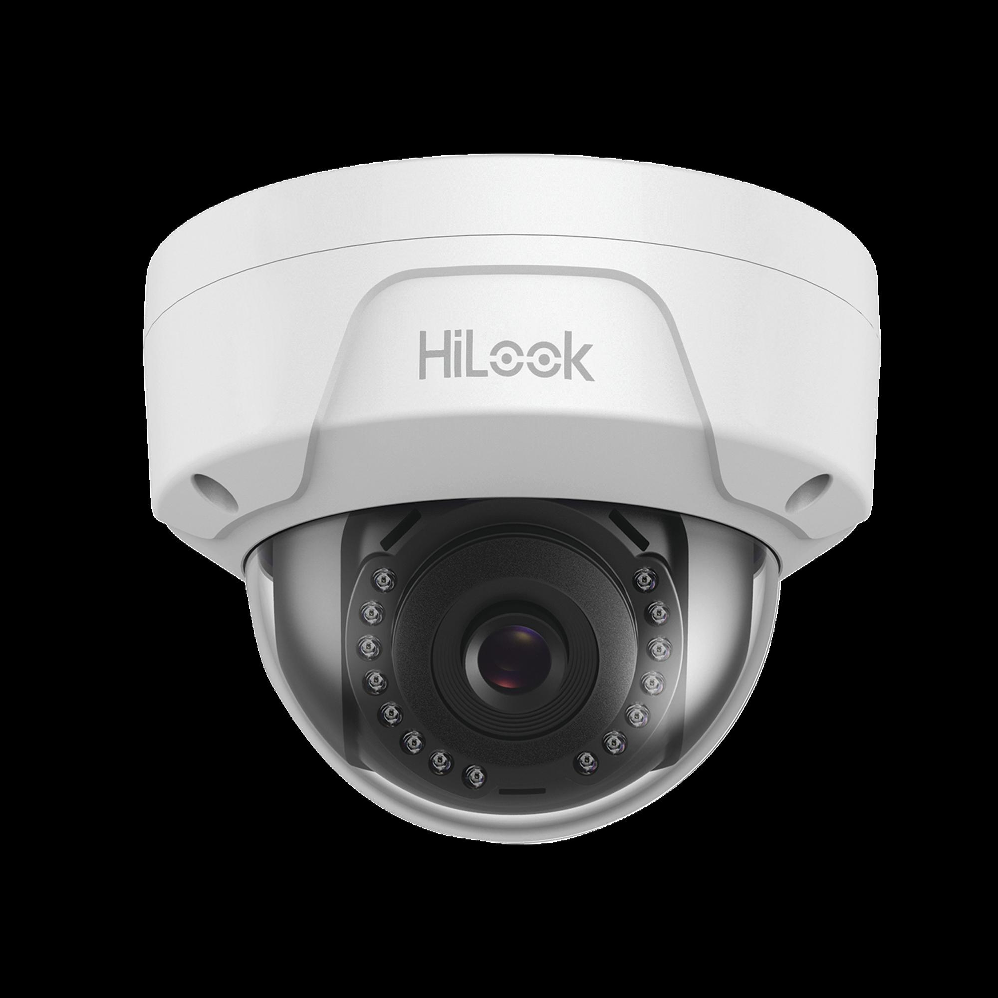 HiLook Series / Domo IP 2 Megapixel / 30 mts IR / Exterior IP67 / IK10 / dWDR / PoE / Lente 2.8 mm
