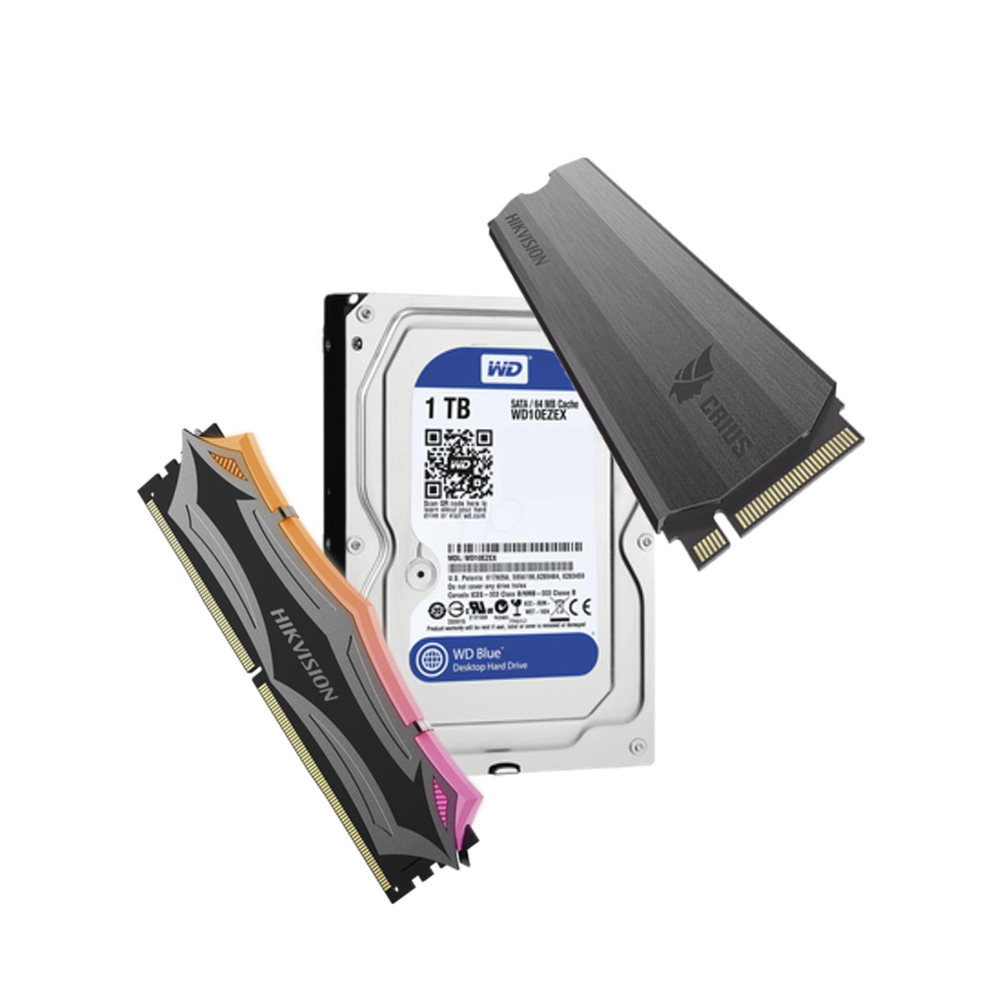 Kit Gamer de RAM 16GB, SSD 1024GB y HDD 1TB