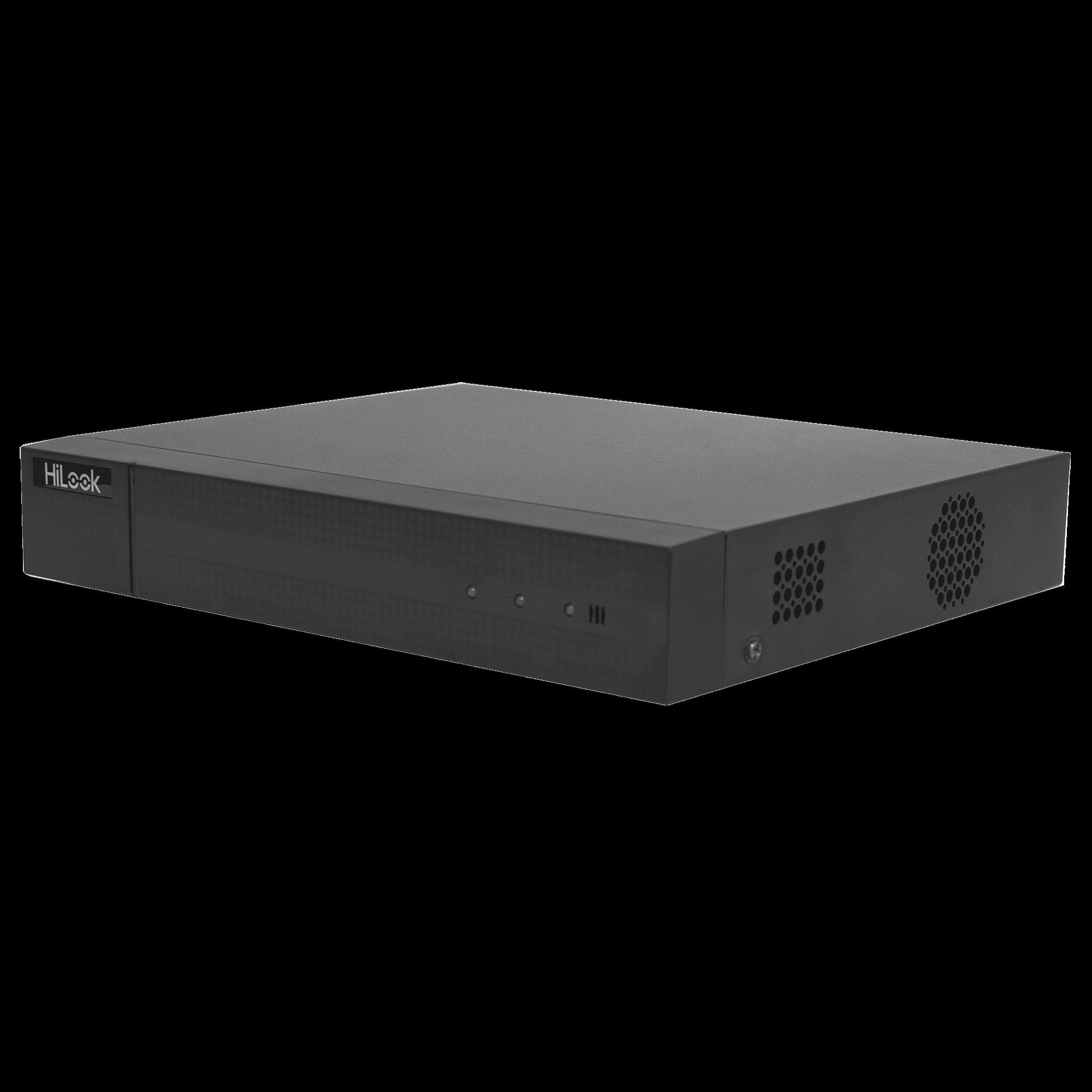 DVR 1080P Lite Pentahibrido / 8 Canales TURBOHD + 2 Canales IP / 1 Bahía de Disco Duro / H.264+ / 1 Canal de Audio / Salida de Vídeo Full HD