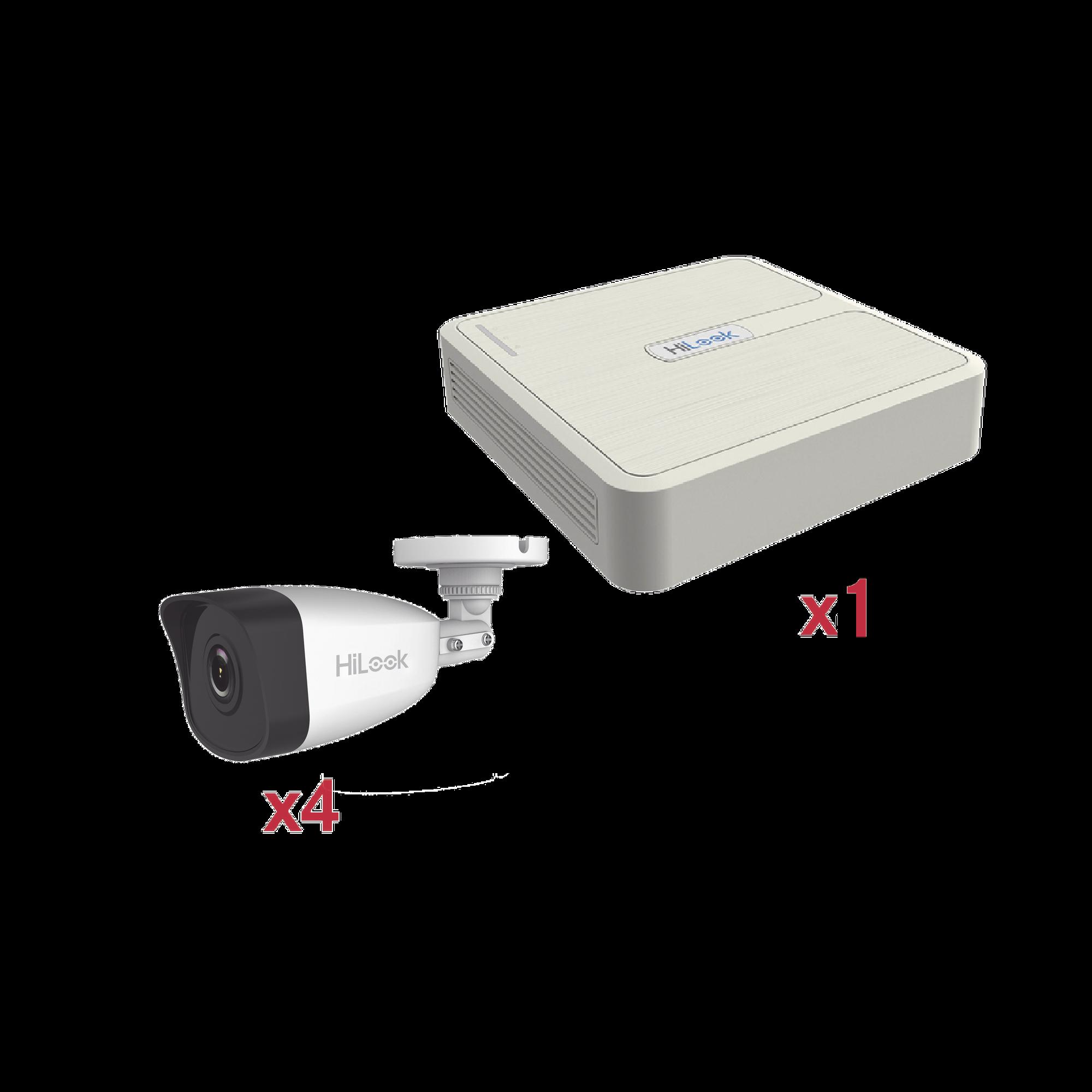 KIT IP 1080p / NVR de 4 Canales / 4 Cámaras IP Bala