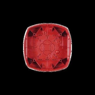 Caja de Montaje para Bocina/Estrobo Hochiki, Color Rojo