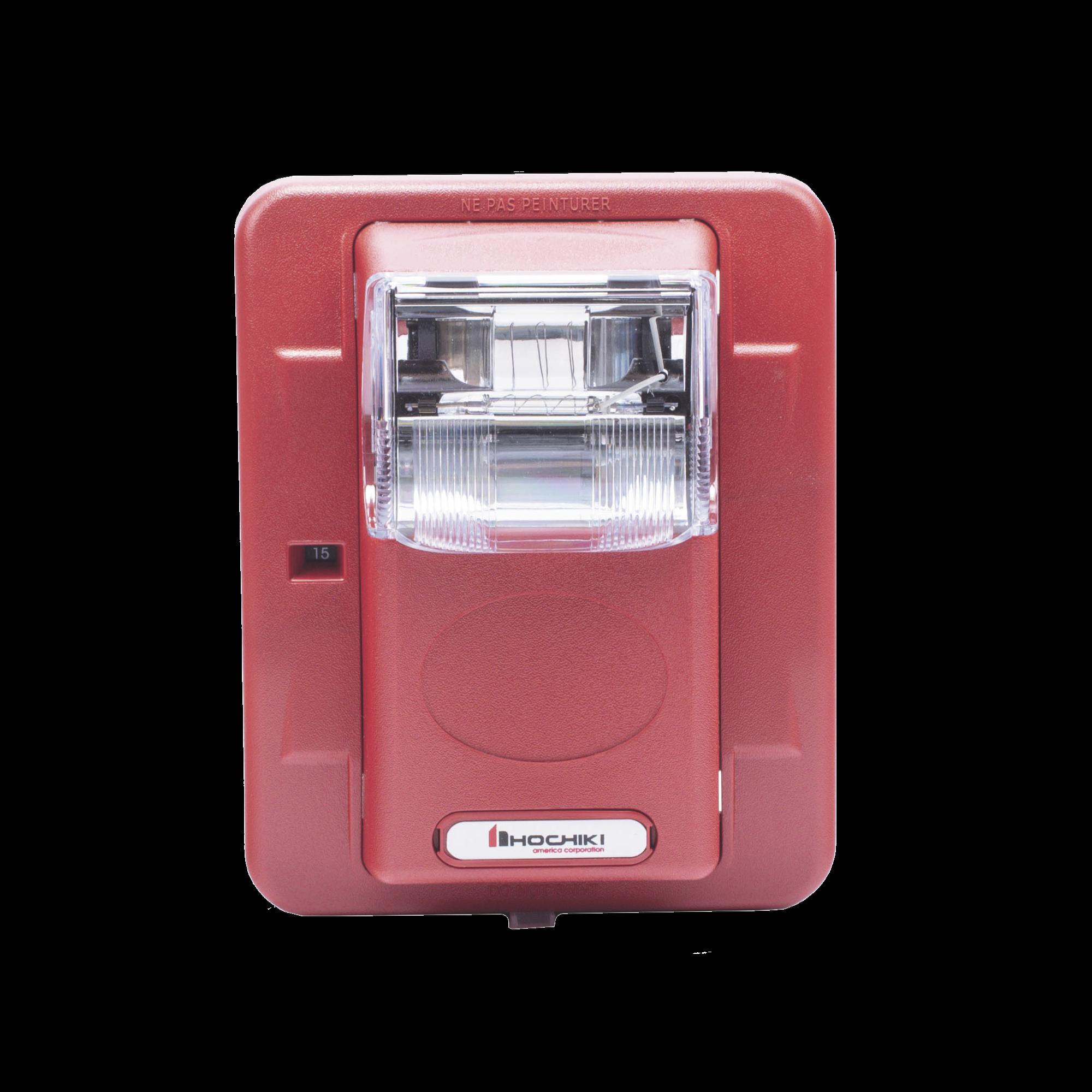 Lámpara Estroboscópica de Montaje en Pared, 24 Vcd, 15/30/60/75/110 Candelas, sin Letras, Color Rojo
