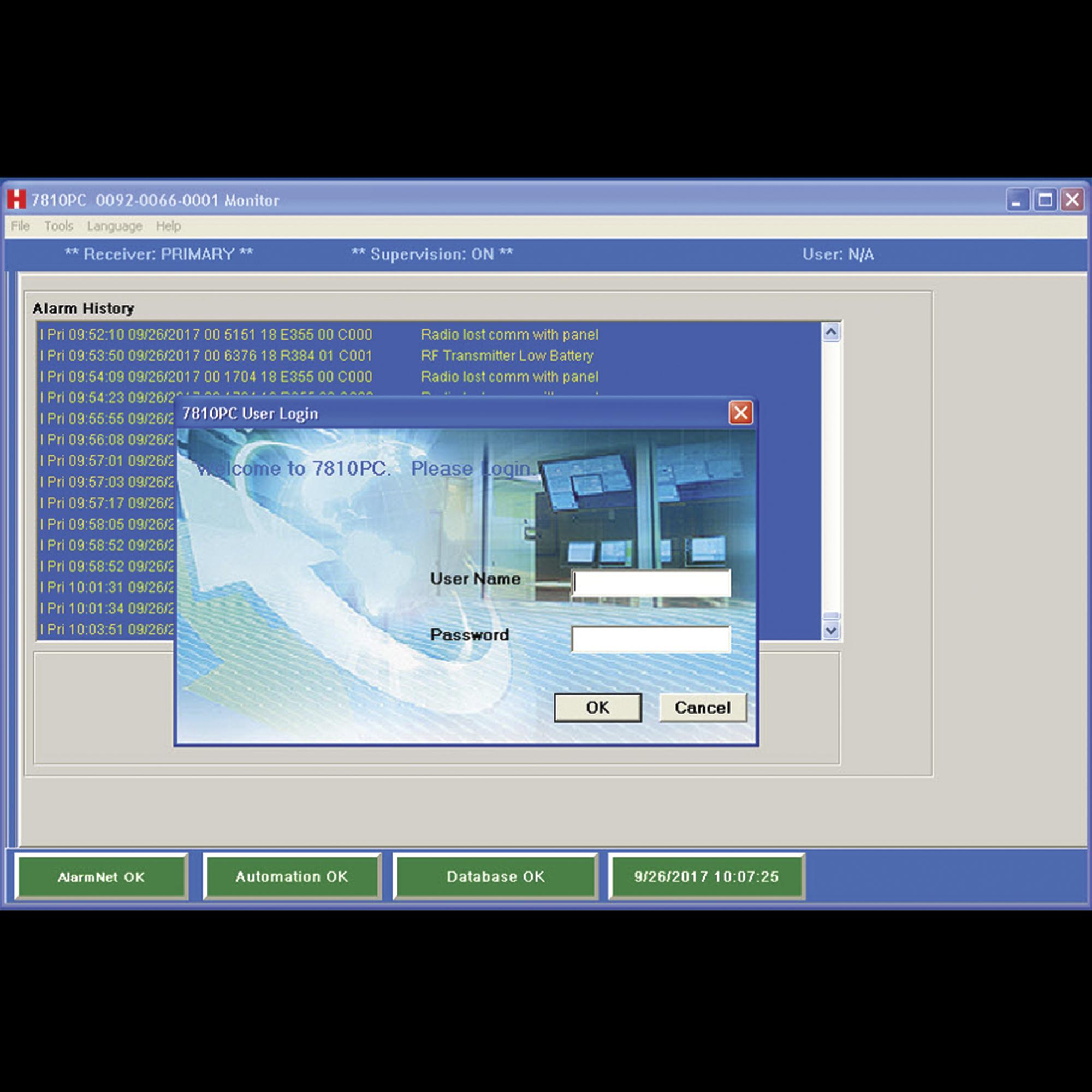 Software de Recepcion de Eventos de Alarma por IP o 3G/4G No requiere IP Publica Fija o Servicios de Nombres de Dominio DDNS