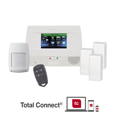 Panel de Alarma Inalambrico Autocontenido con Pantalla Touch L5210, integrable a casa inteligente usando servicio de Total Connect