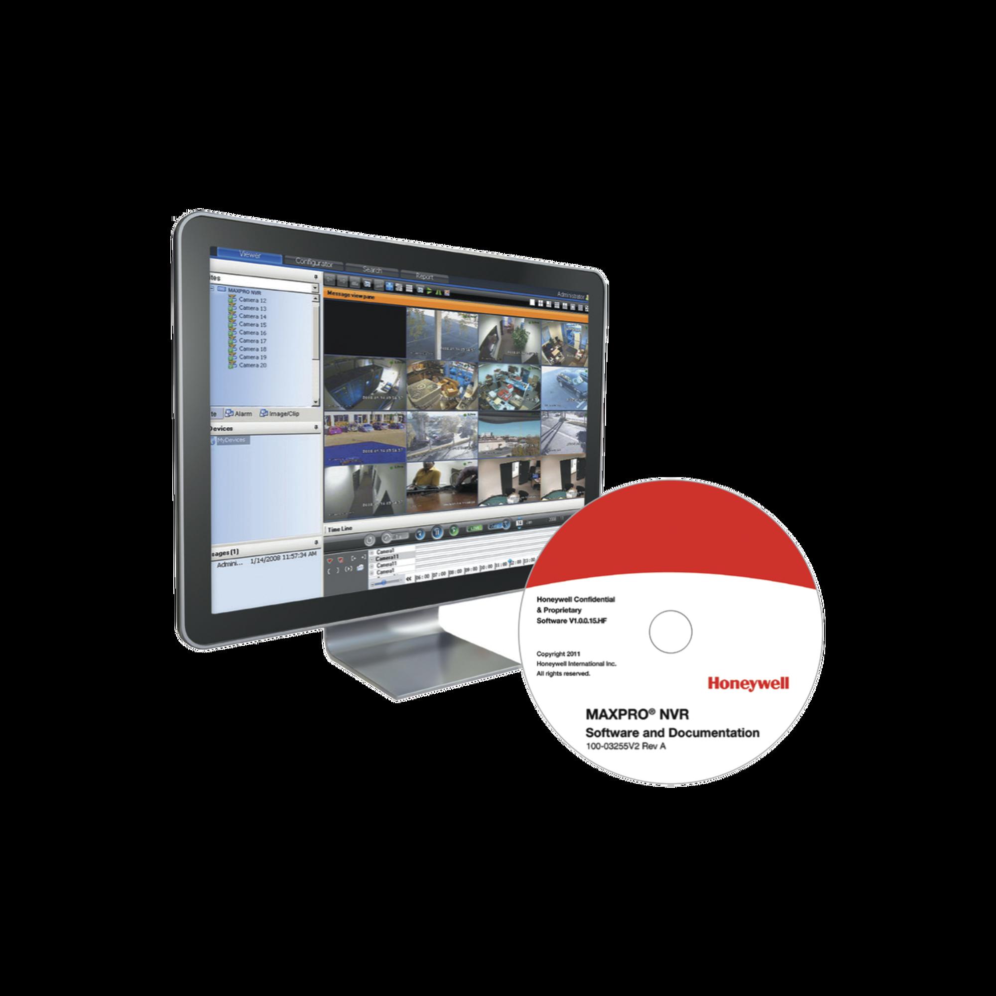 MAXPRO NVR SOFTWARE Licencias base con 4 canales
