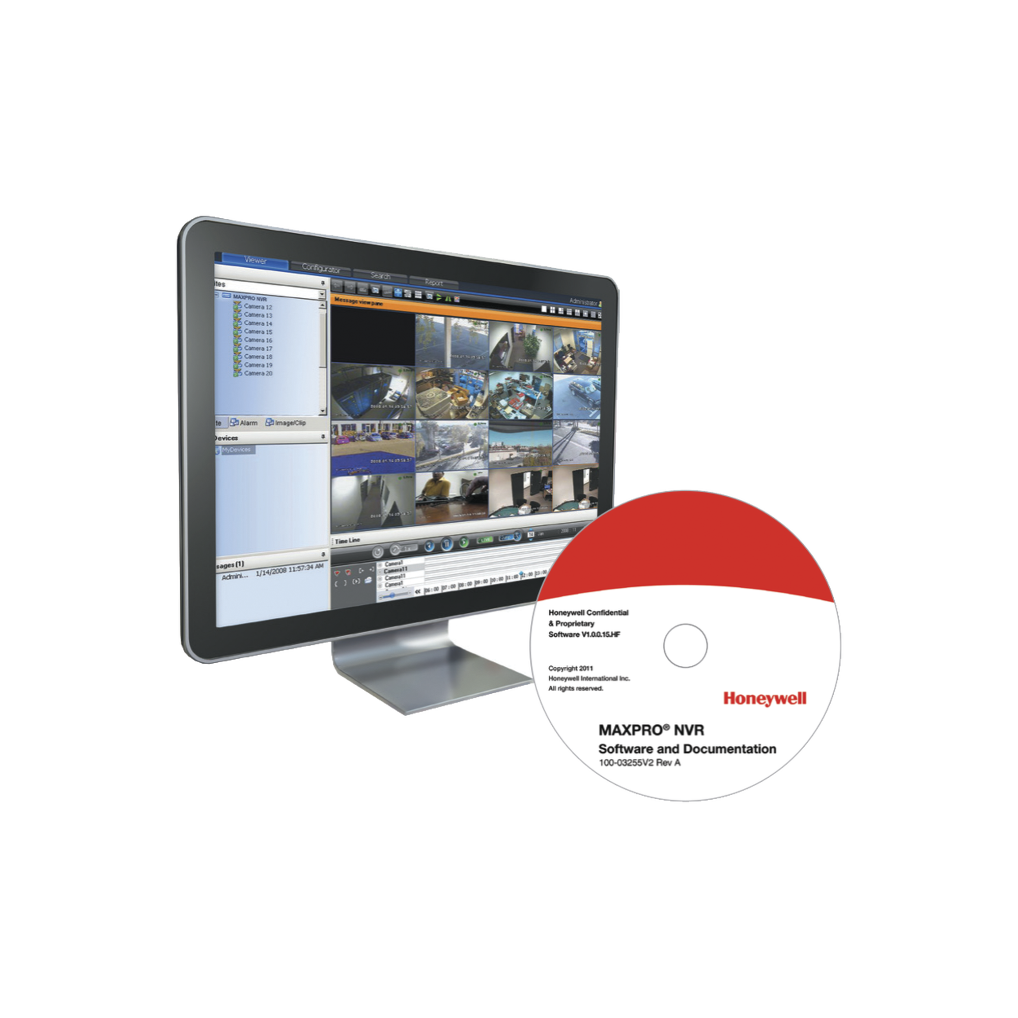 MAXPRO NVR SOFTWARE Licencia base con 48 Canales