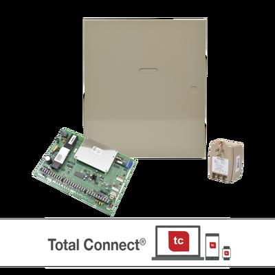Panel de Alarma Hibrido, 8 Particiones, Hasta 128 Zonas, Compatible con AlarmNet y Total Connect
