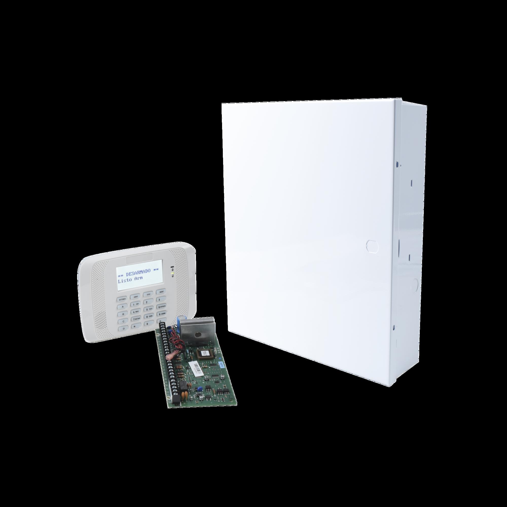 Sistema de Alarma VISTA20P con Teclado Alfanumerico y Receptor Inalambrico Interconstruido