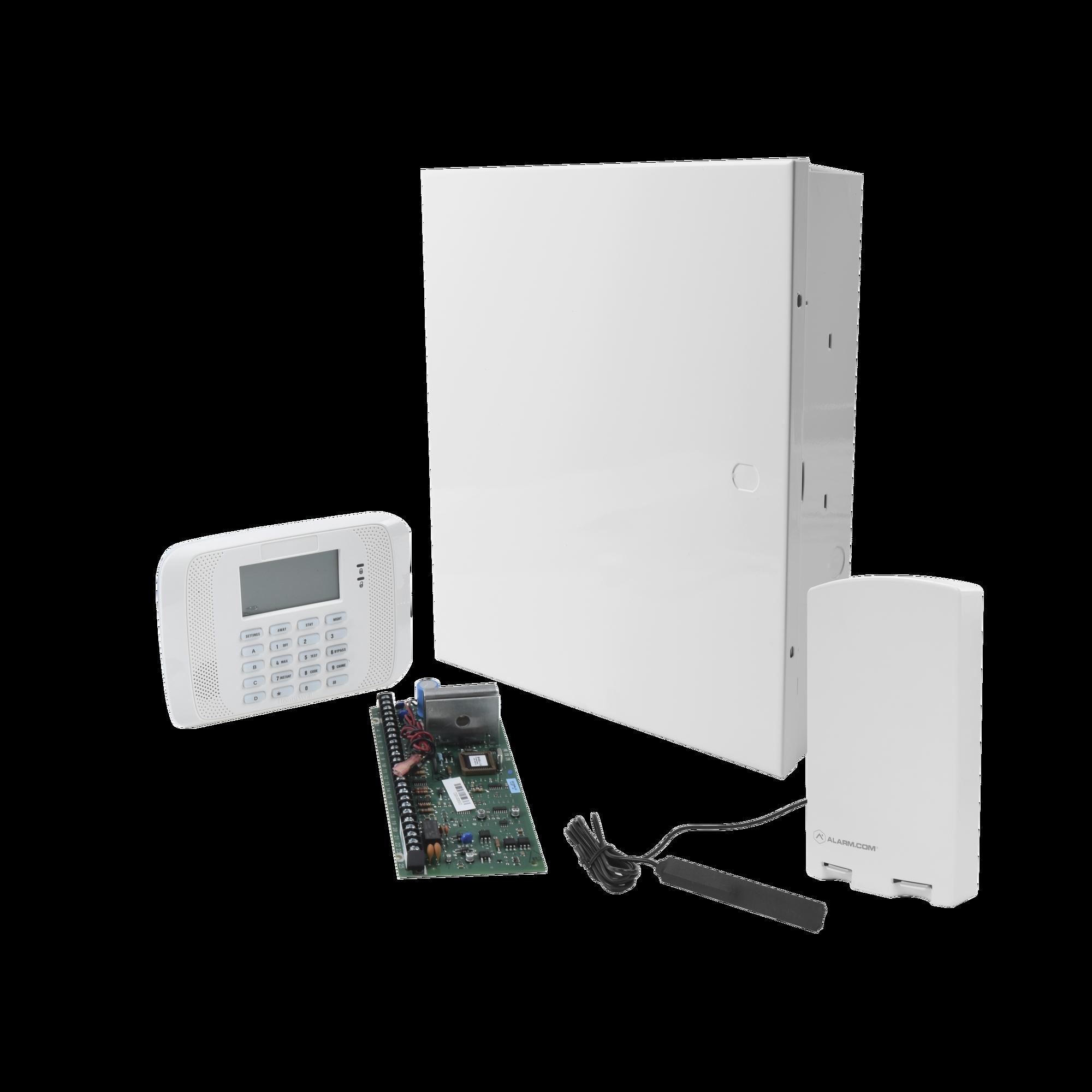 Sistema de Alarma VISTA20P con Comunicador ALARM.COM GSM / ZWAVE / Integracion LUTRON / YALE / Teclado Alfanumerico y Receptor Inalambrico Interconstruido