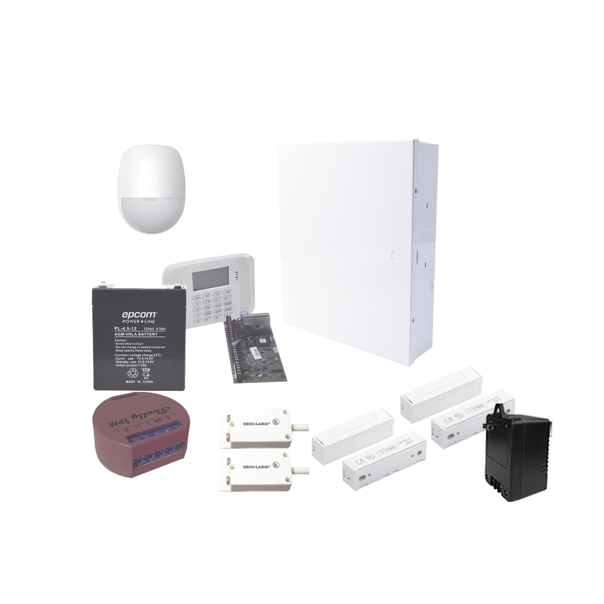 Kit de alarma Vista48 y 1 dispositivo Shelly1PM