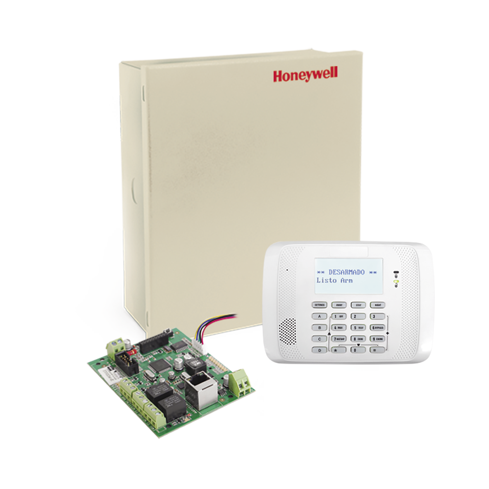Panel de Alarma para 48 Zonas con Teclado Alfanumérico y Comunicador Universal IP de Crow