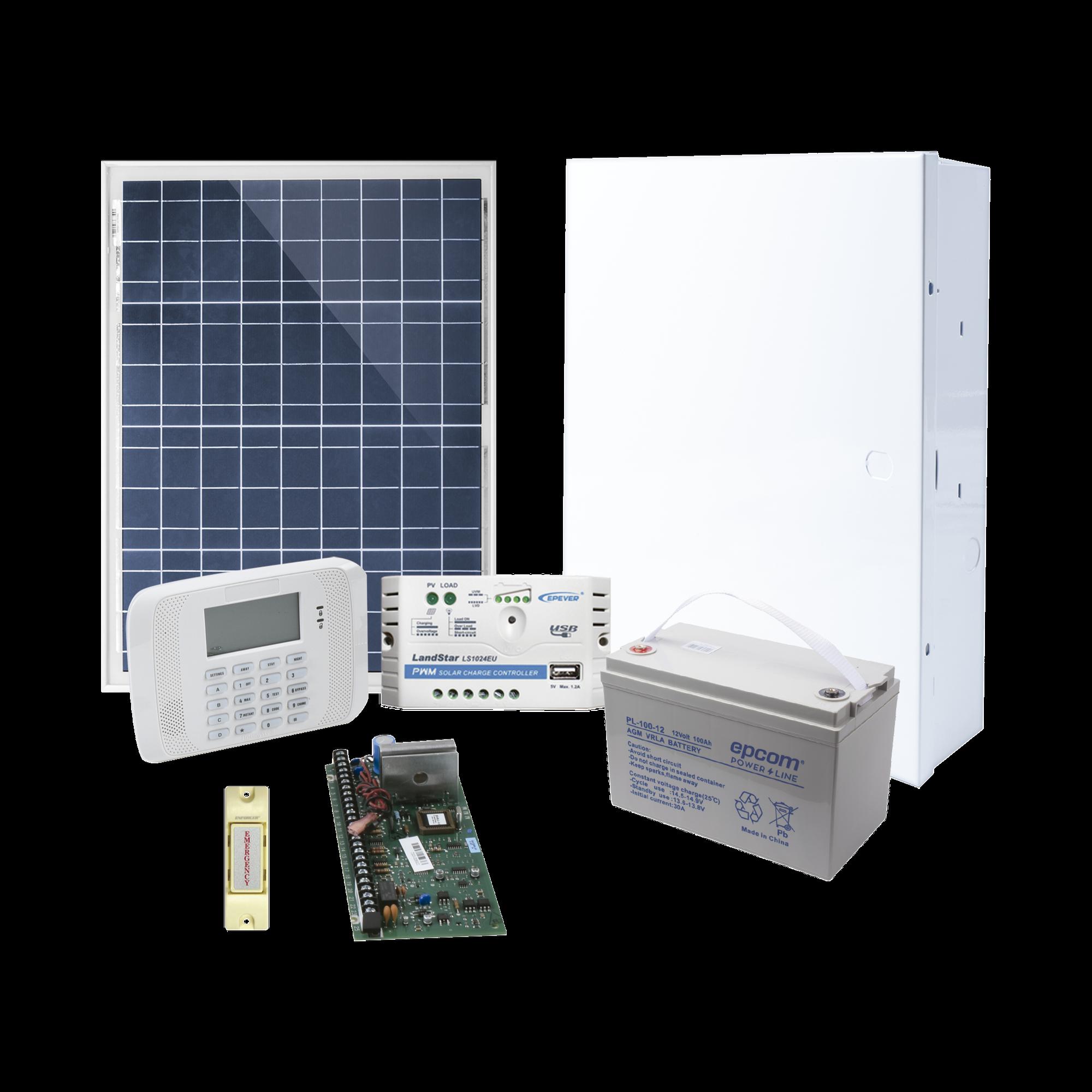 Sistema de Alarma VISTA48LA Alimentado por Celda Solar, incluye Teclado con Receptor Inalambrico