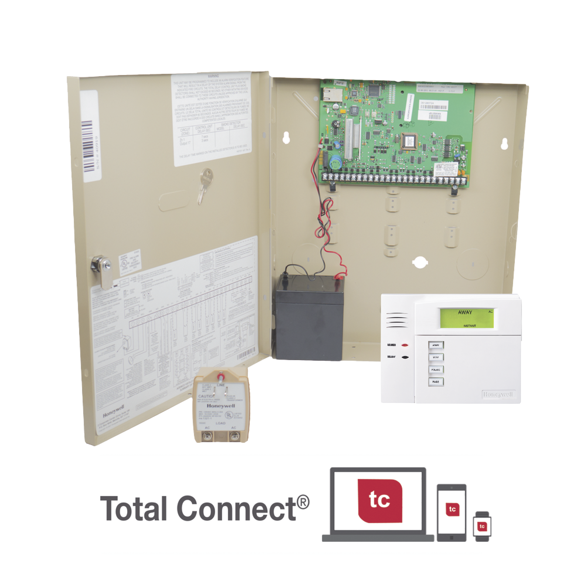 Panel de Alarma Residencial/Comercial VISTA 21IP con Módulo IP incluído para conexión a AlarmNet
